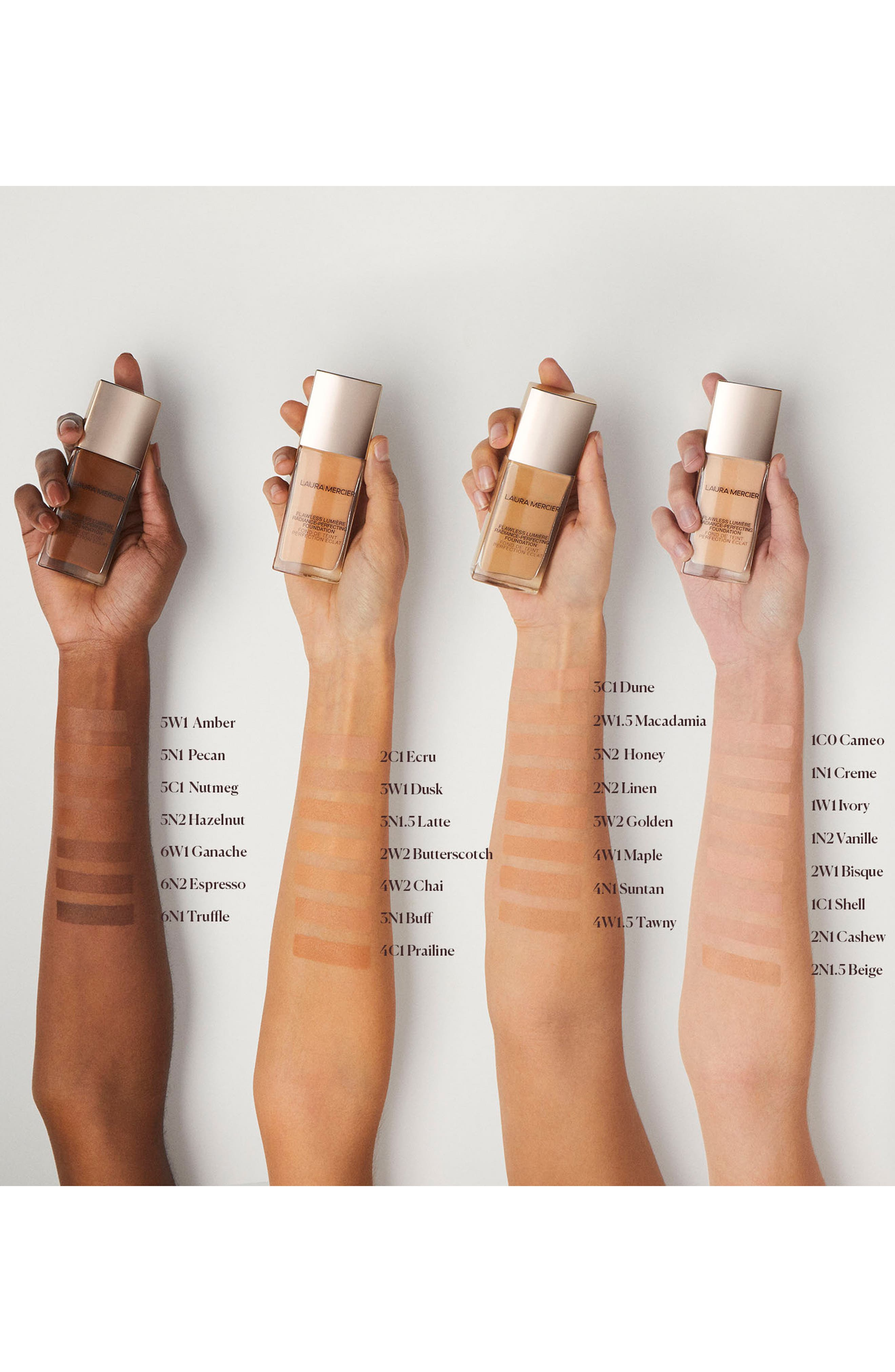 LAURA MERCIER,                             Flawless Lumière Radiance-Perfecting Foundation,                             Alternate thumbnail 3, color,                             2N1 CASHEW