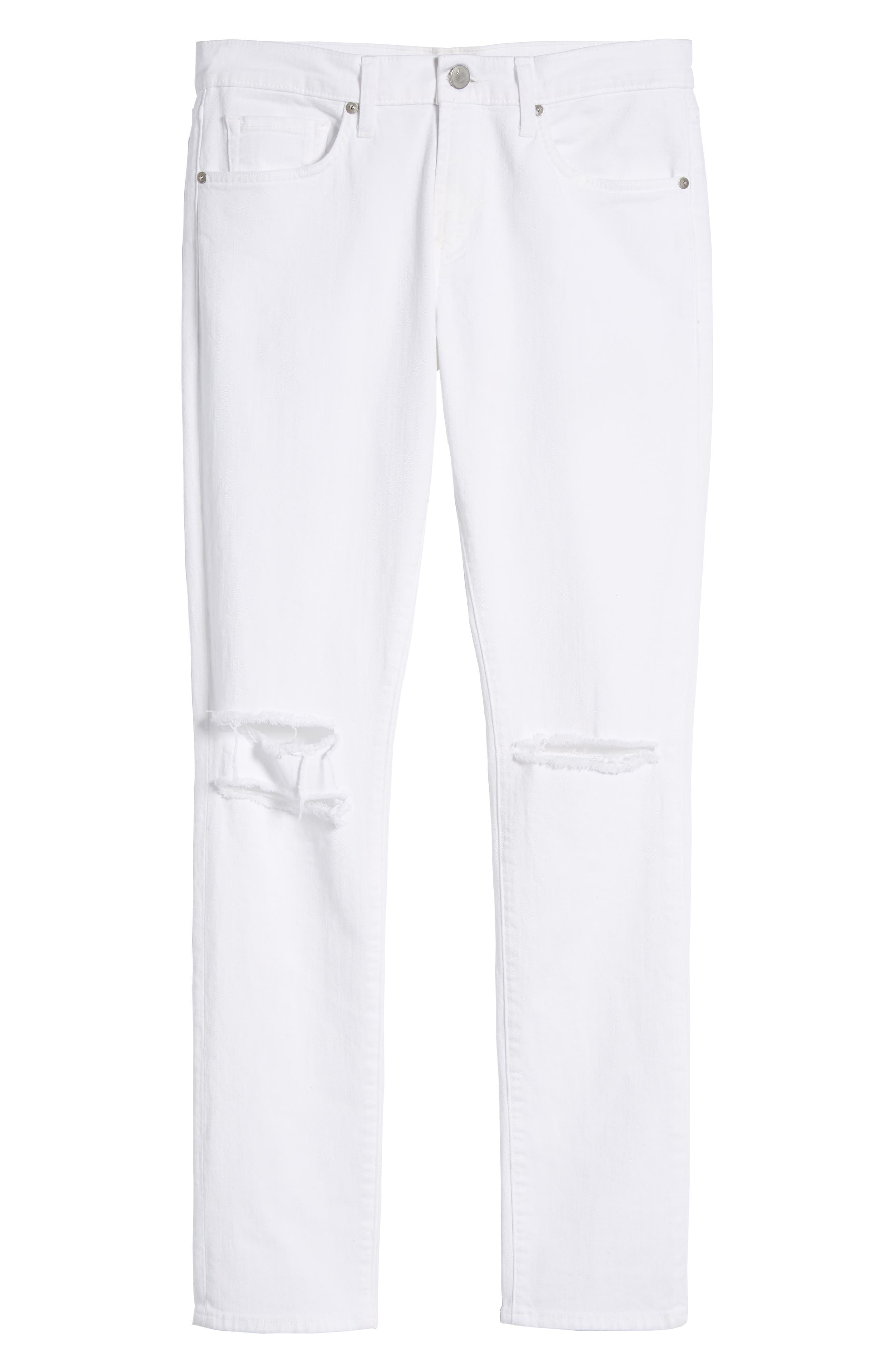 Mick Distressed Skinny Fit Jeans,                             Alternate thumbnail 6, color,                             WHITMAN OAK
