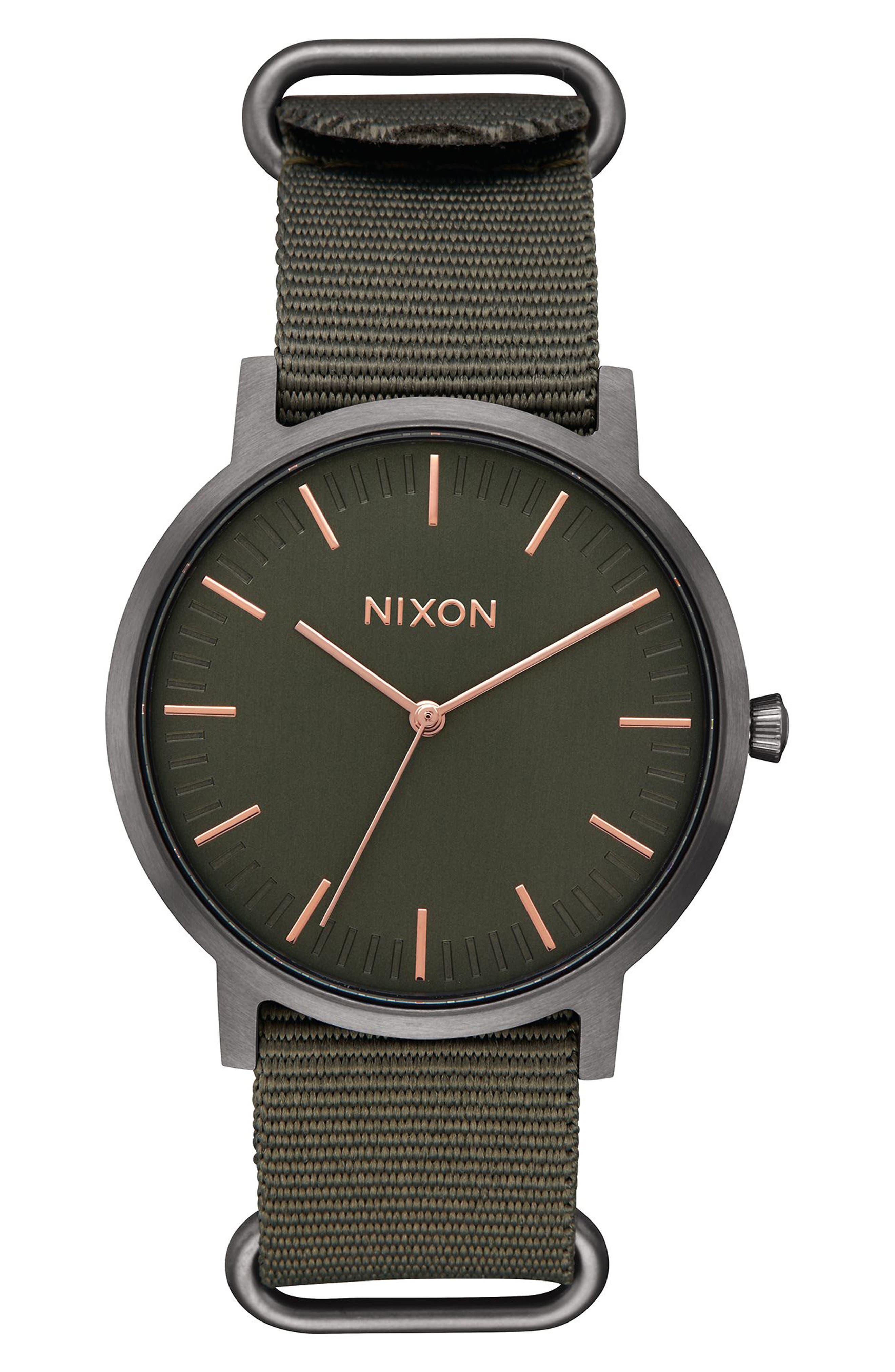 Porter Nylon Strap Watch, 40mm,                             Main thumbnail 4, color,