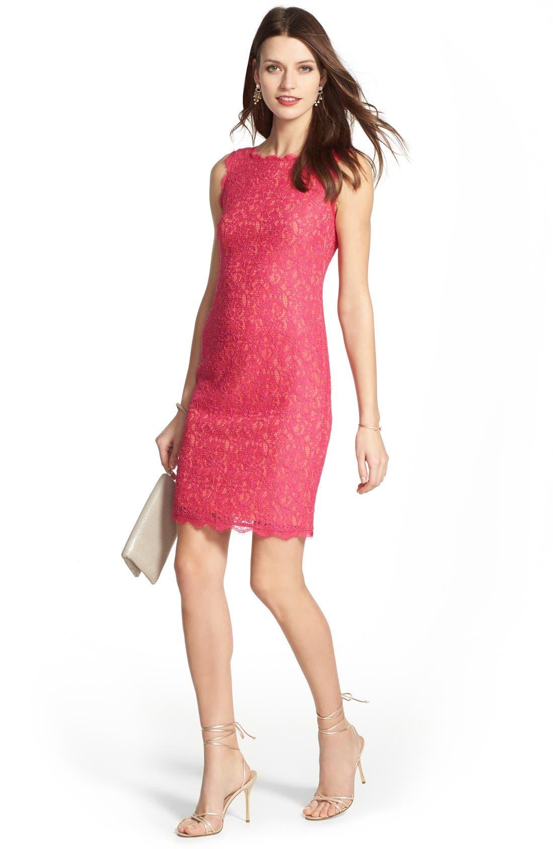 Boatneck Lace Sheath Dress,                             Alternate thumbnail 89, color,