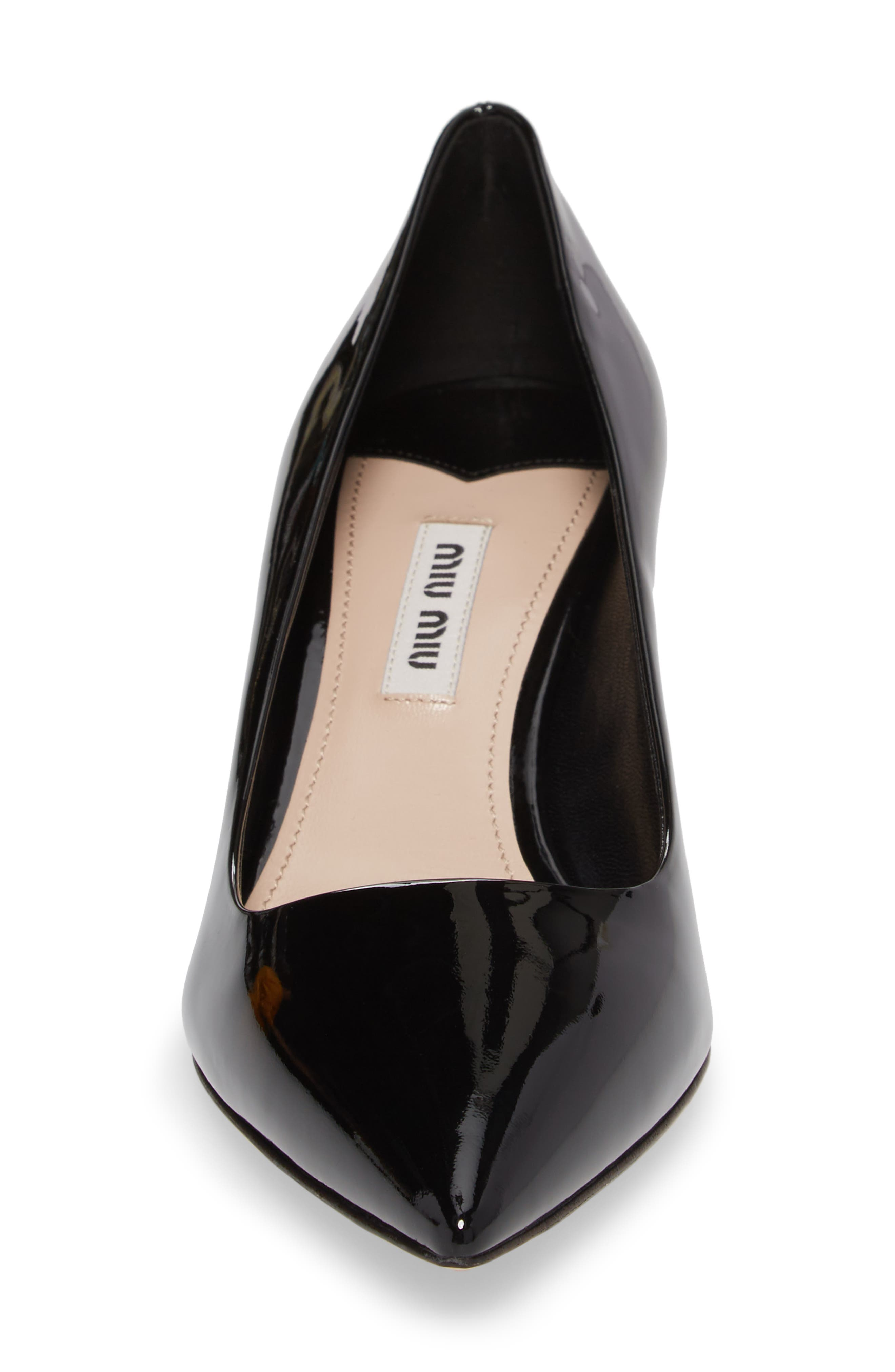 Crystal Heel Pump,                             Alternate thumbnail 4, color,                             BLACK