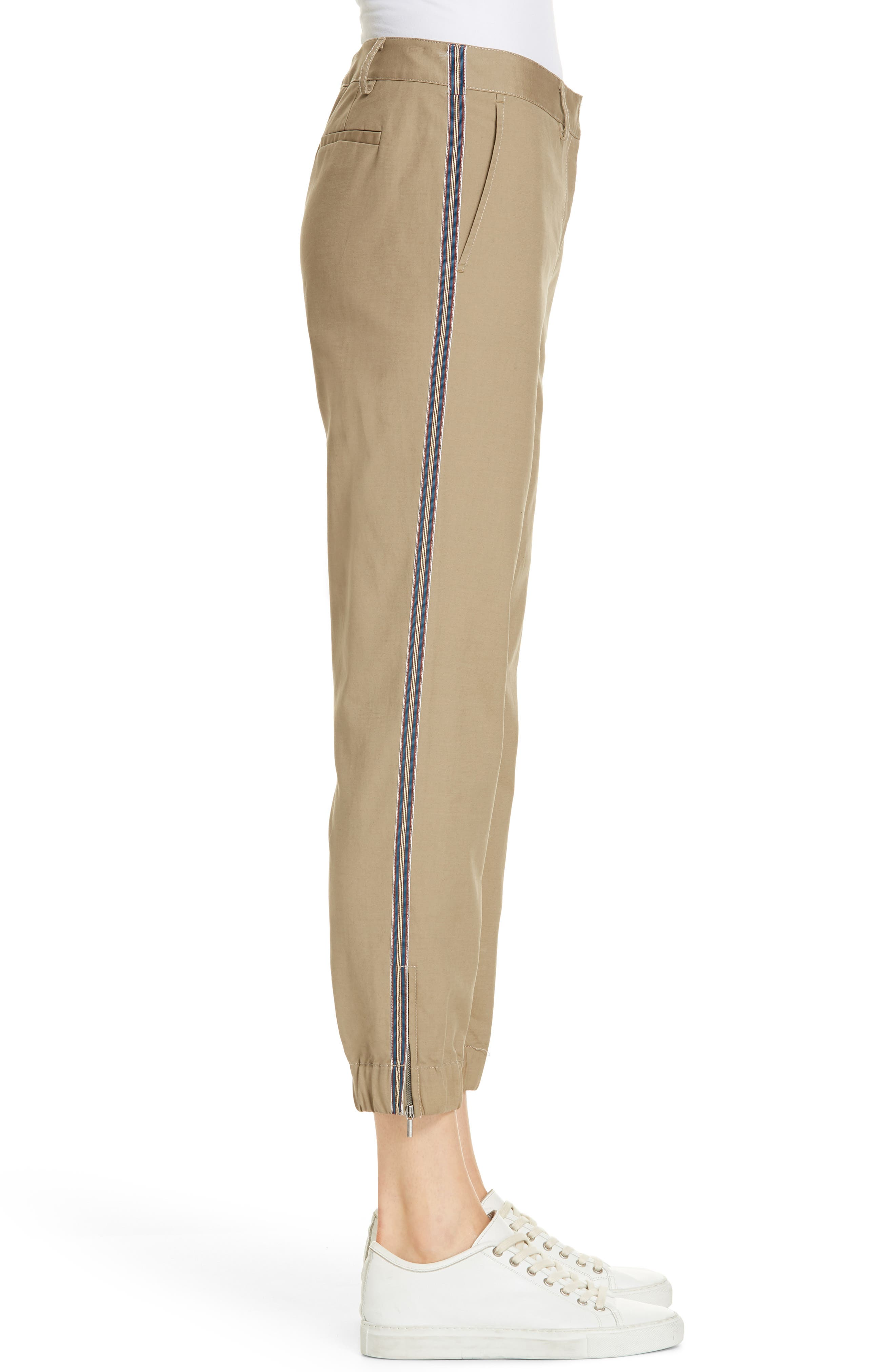 Zip Ankle Jogger Pants,                             Alternate thumbnail 3, color,                             TAN LEAD