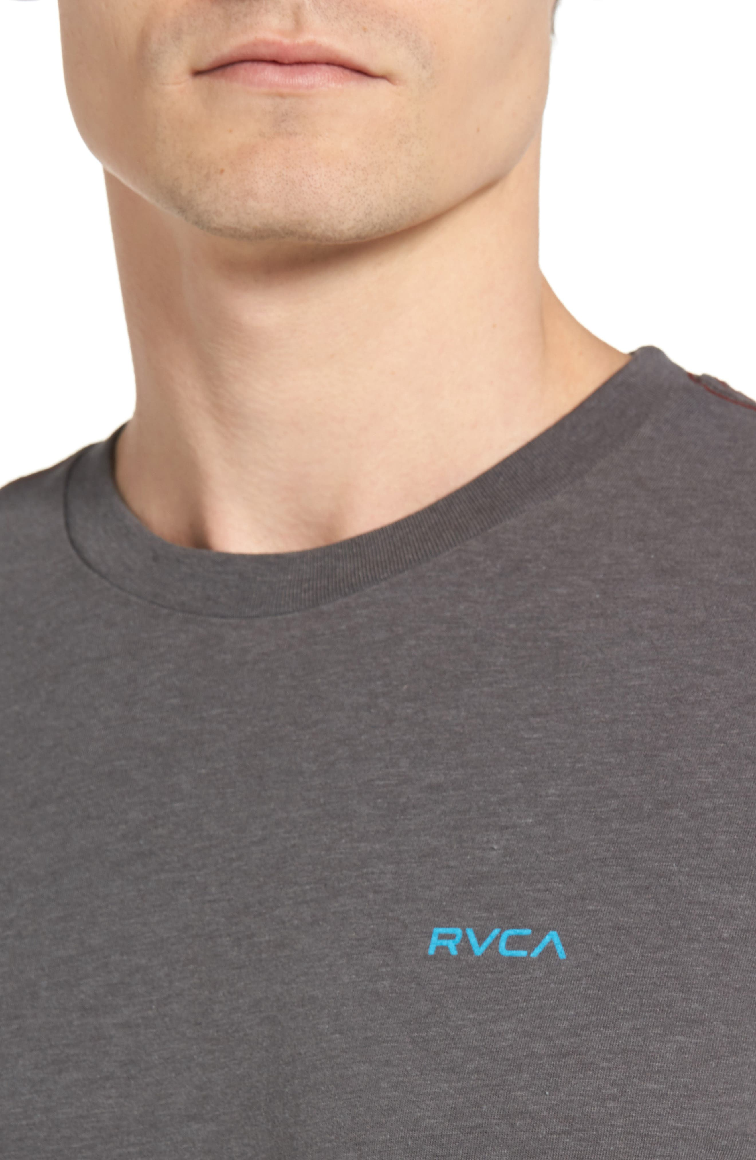 Small RVCA Chest Graphic T-Shirt,                             Alternate thumbnail 4, color,                             076