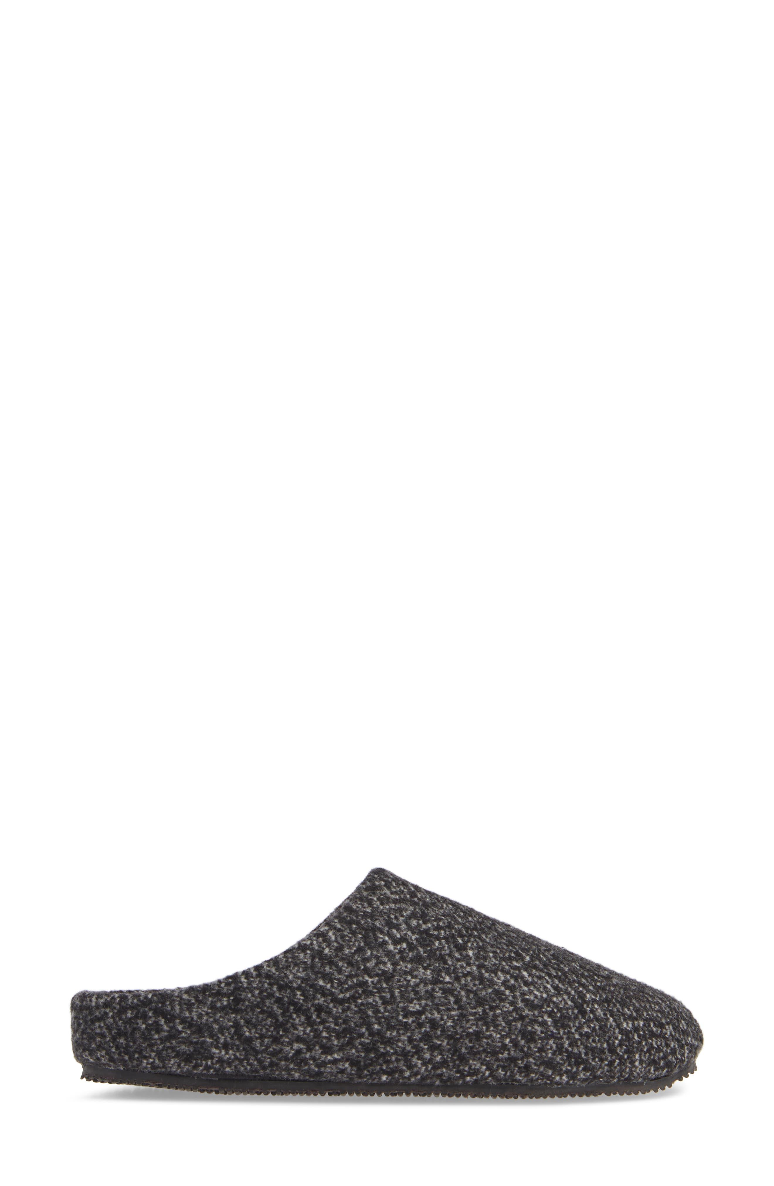 Tillie Memory Foam Slipper,                             Alternate thumbnail 3, color,                             BLACK MULTI