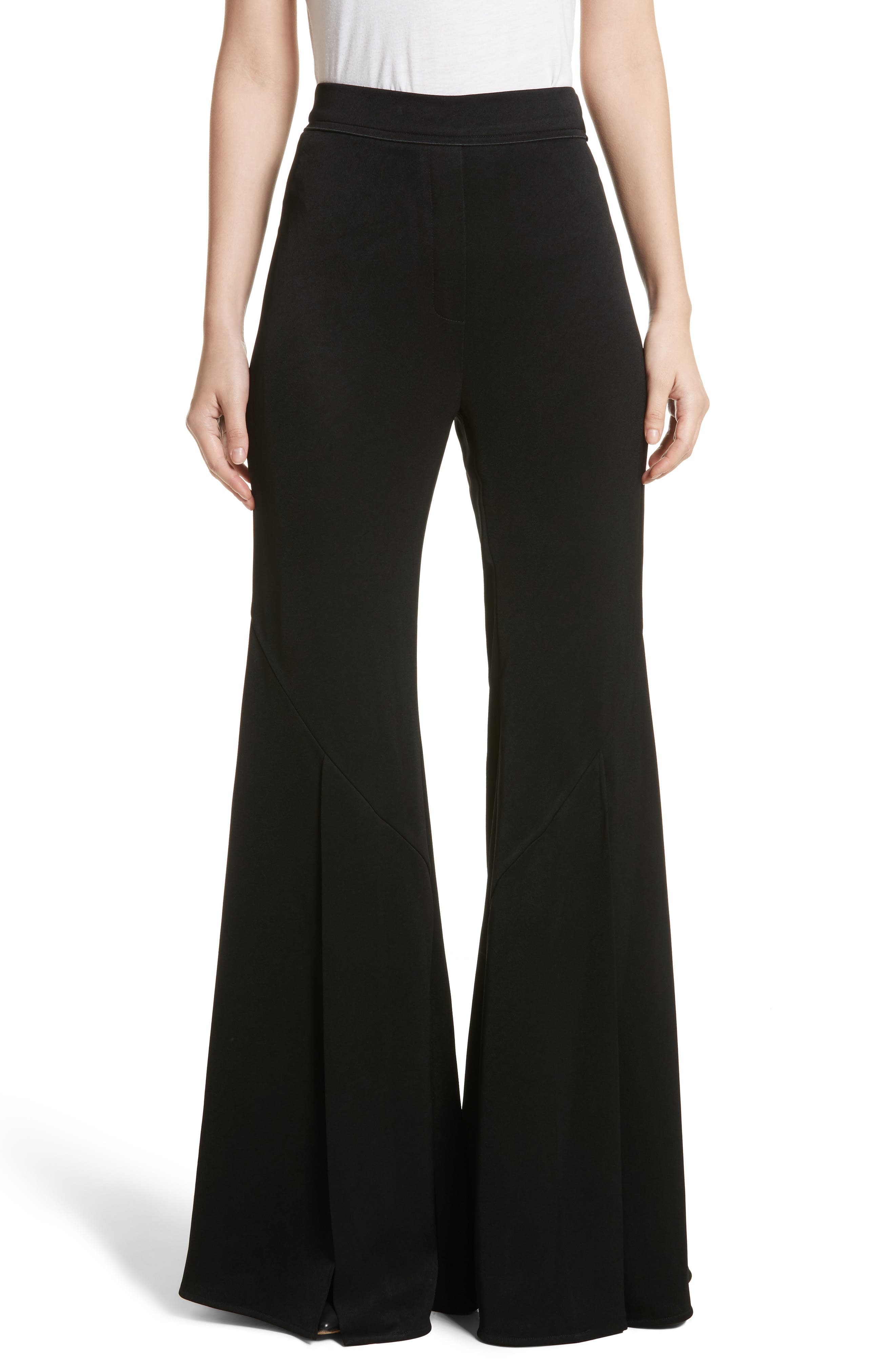 Higher & Higher Wide Flare Leg Pants,                             Main thumbnail 1, color,                             001