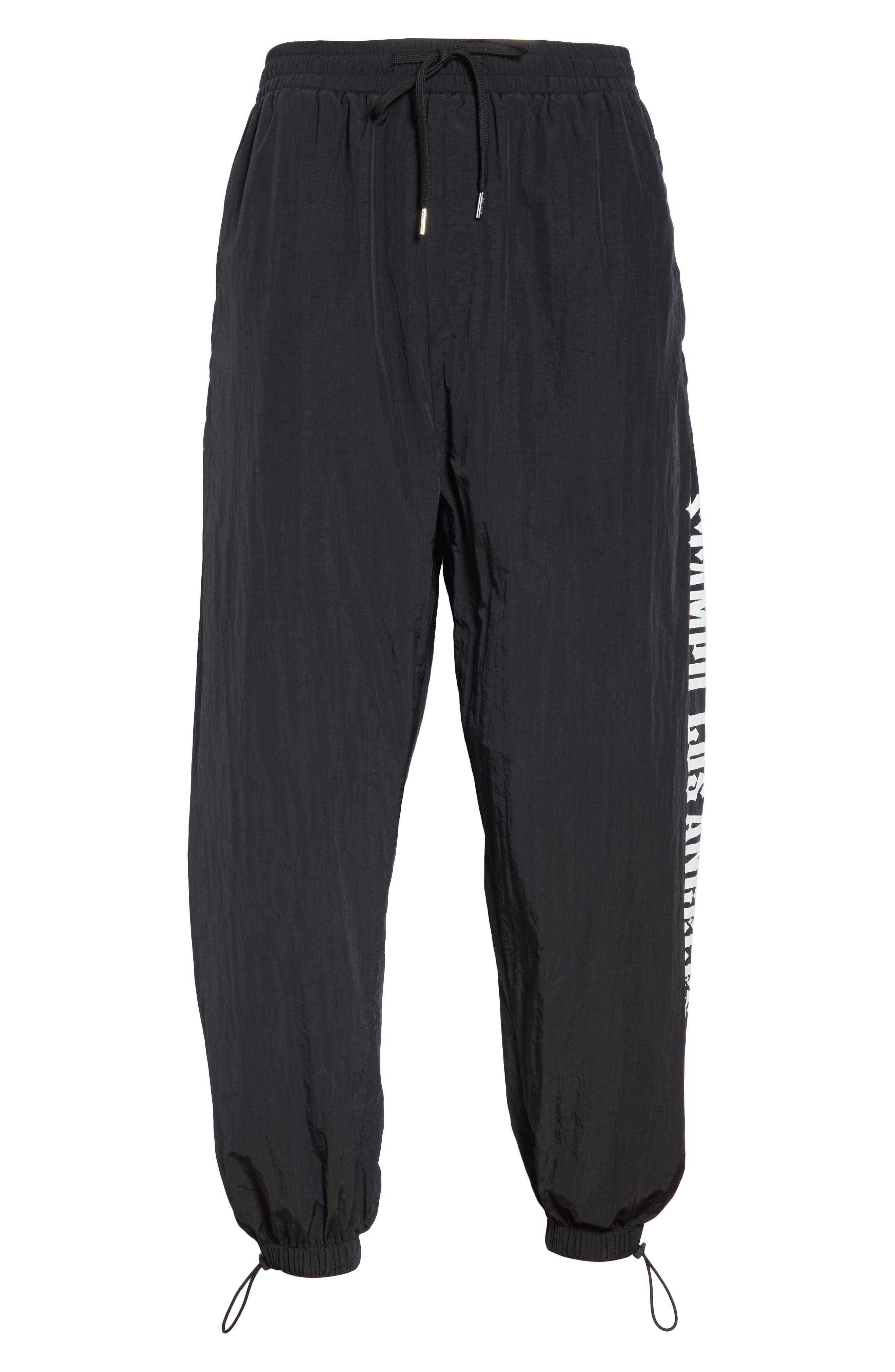 Nylon Chopper Pants,                             Alternate thumbnail 6, color,                             BLACK