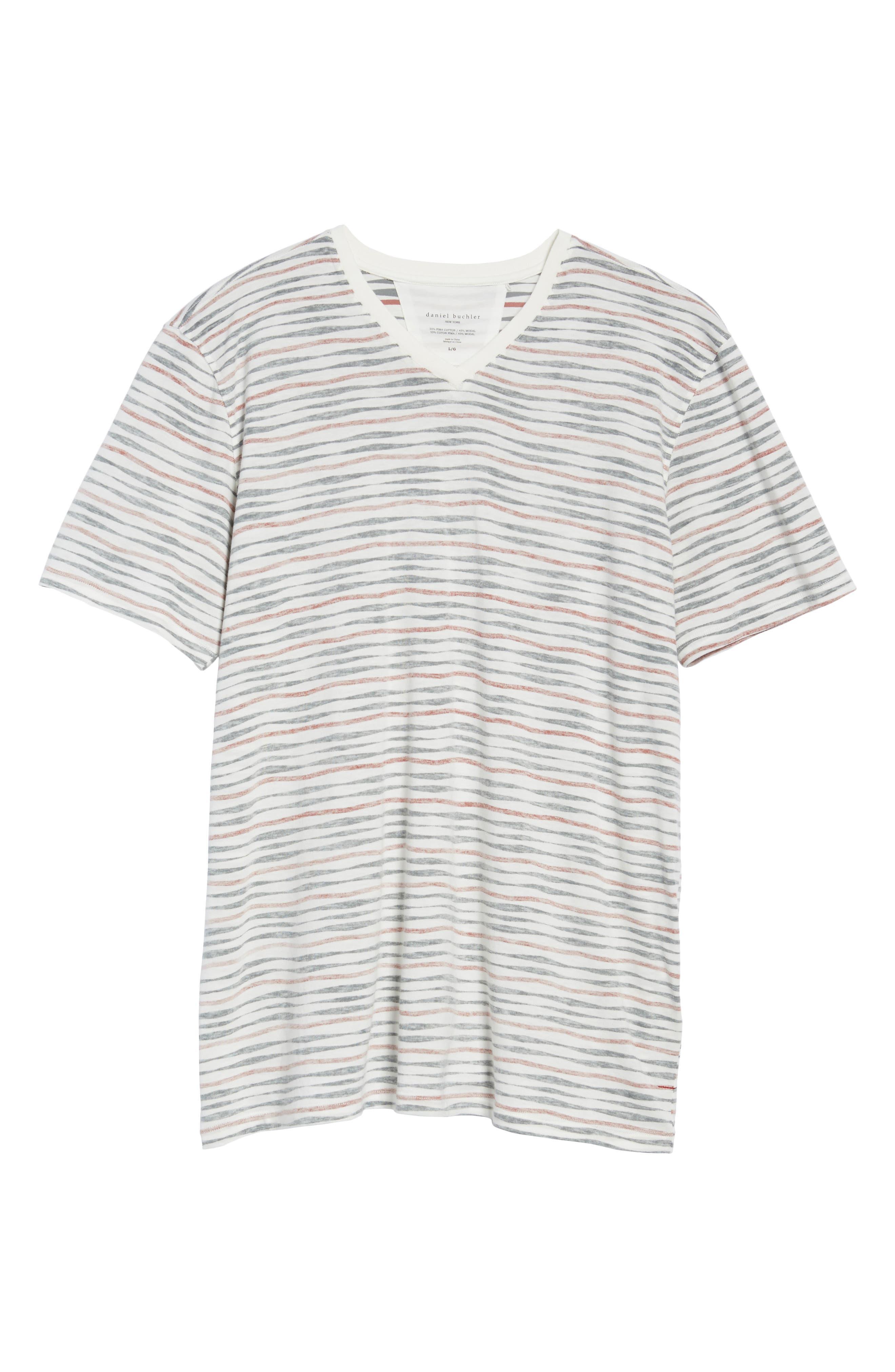 V-Neck T-Shirt,                             Alternate thumbnail 6, color,                             633