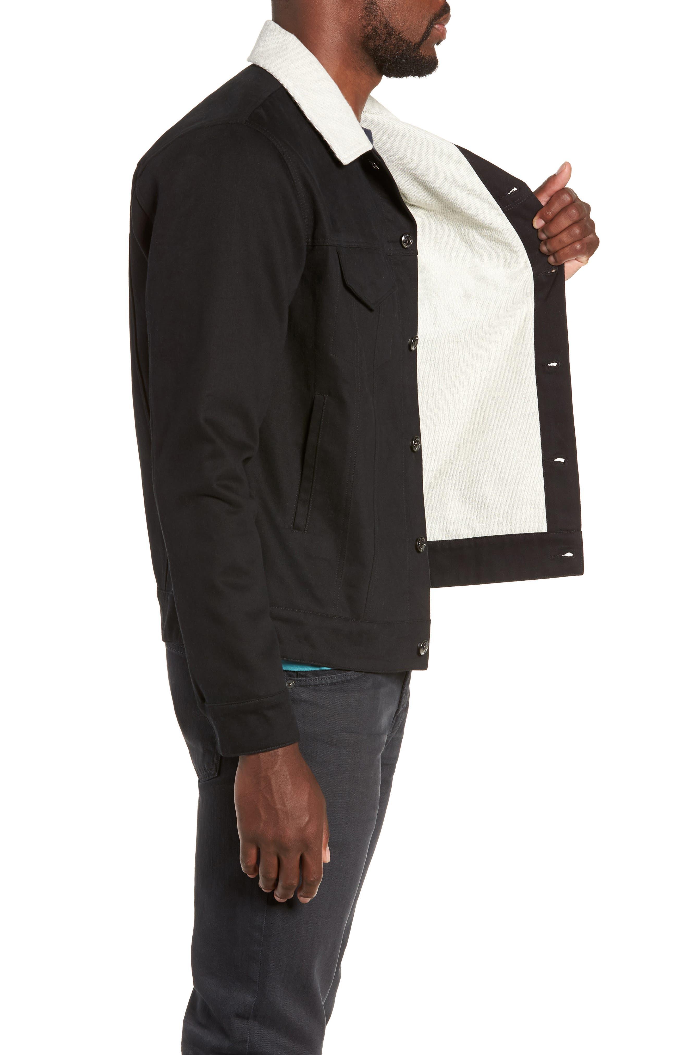 Webster Workman Jacket,                             Alternate thumbnail 3, color,                             BLACK