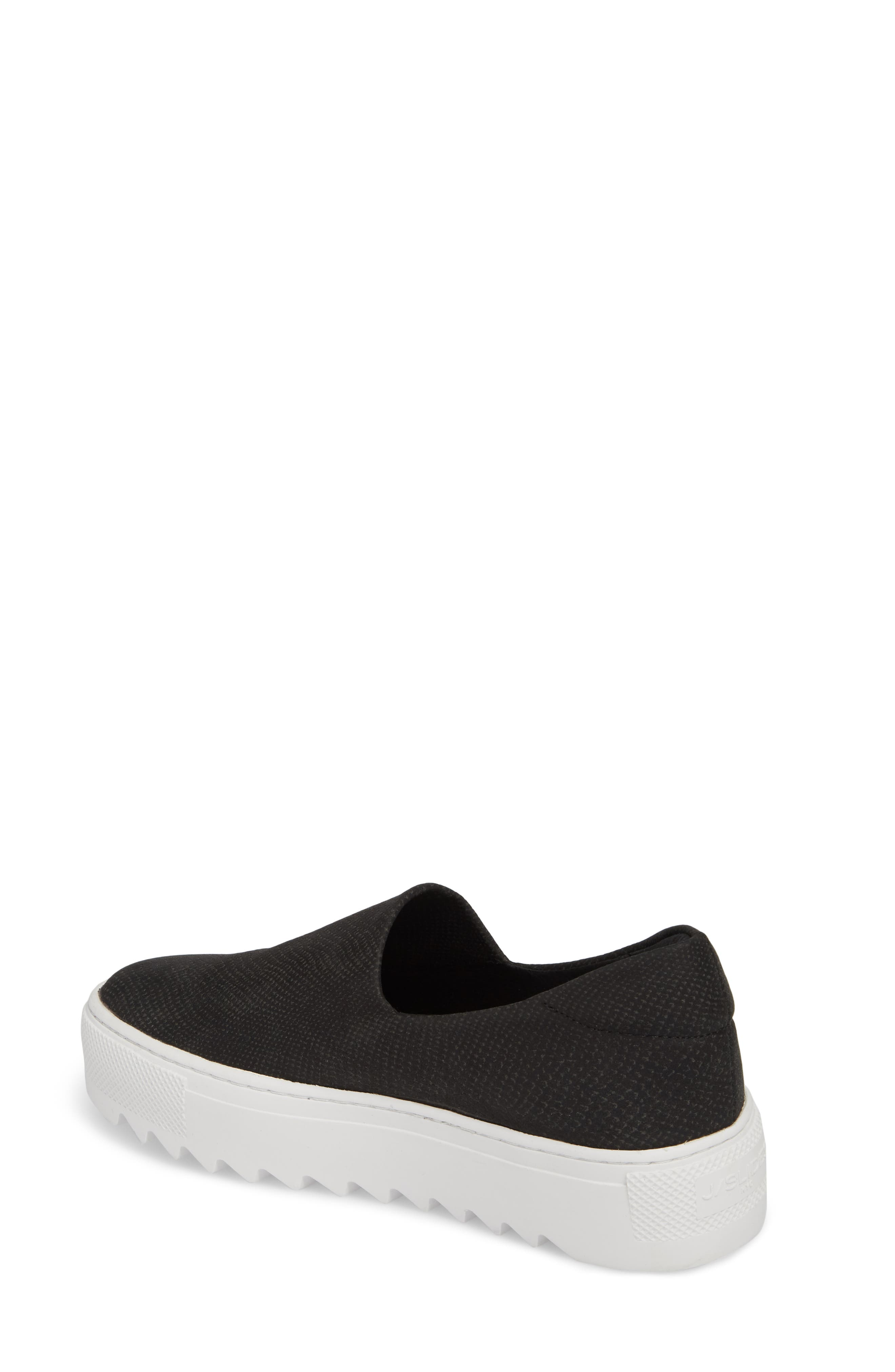 Sage Platform Slip-On Sneaker,                             Alternate thumbnail 2, color,                             BLACK MIX FABRIC
