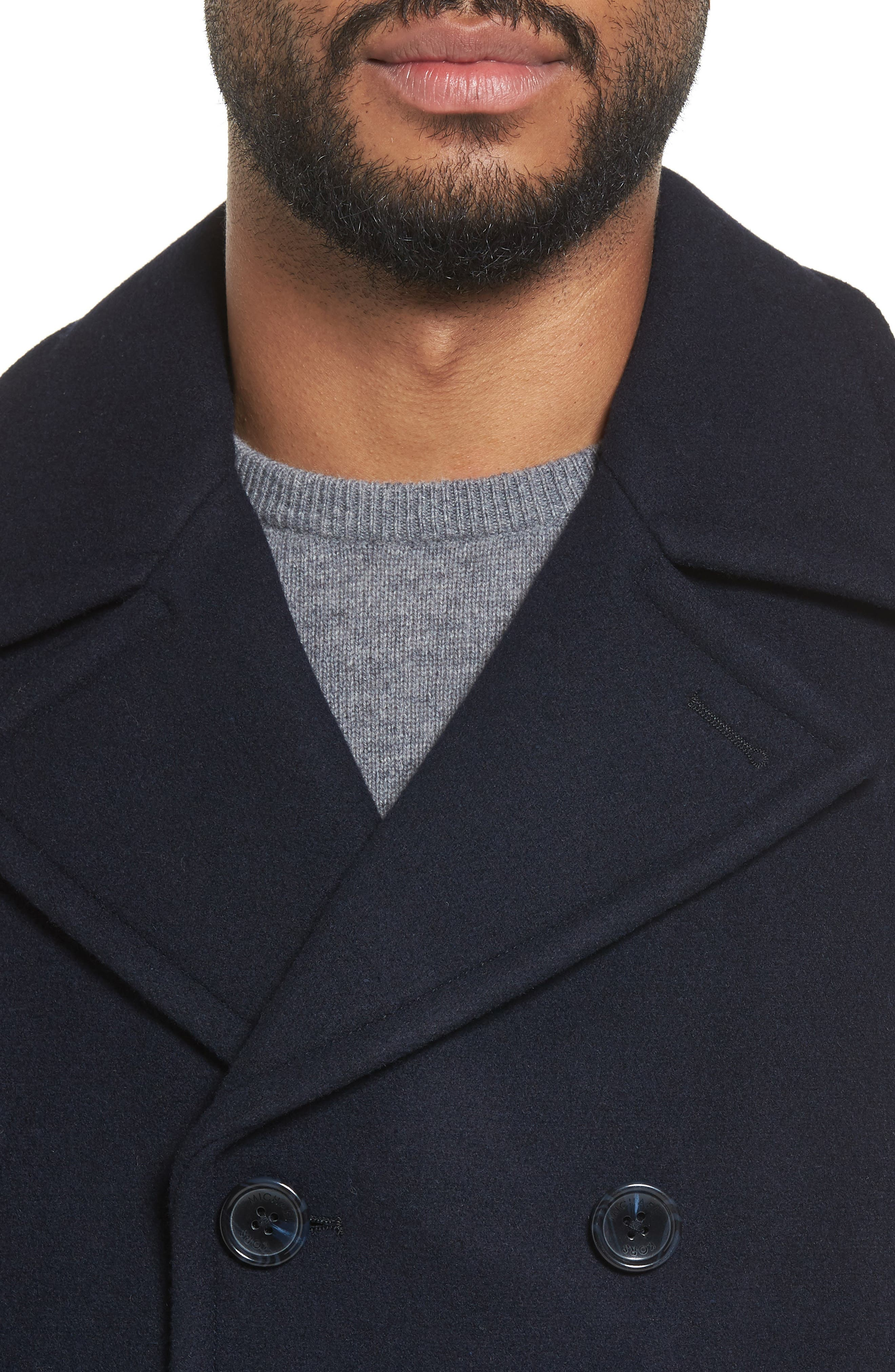 Wool Blend Double Breasted Peacoat,                             Alternate thumbnail 74, color,