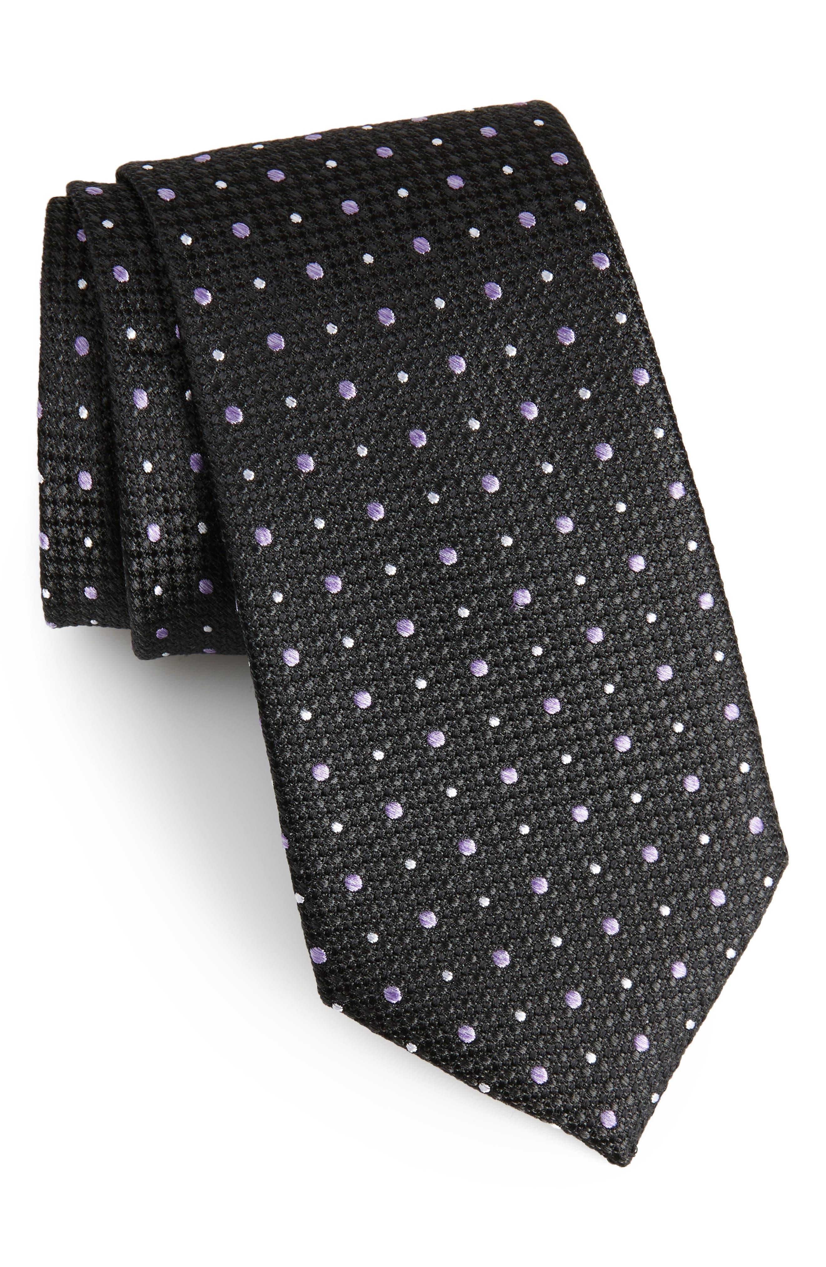 Gest Dot Silk Tie,                             Main thumbnail 1, color,