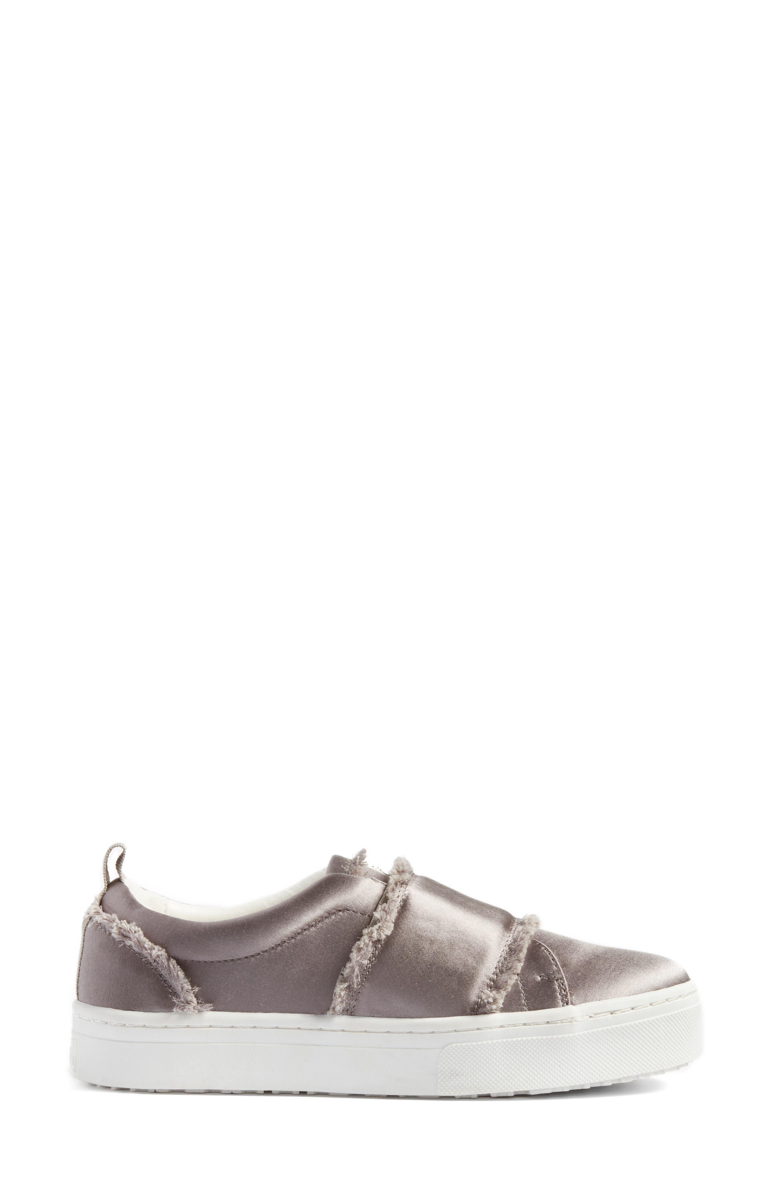 Levine Fringe Slip-On Platform Sneaker,                             Alternate thumbnail 3, color,                             020