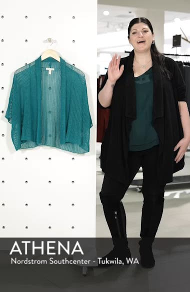 Boxy Organic Linen Cardigan, sales video thumbnail