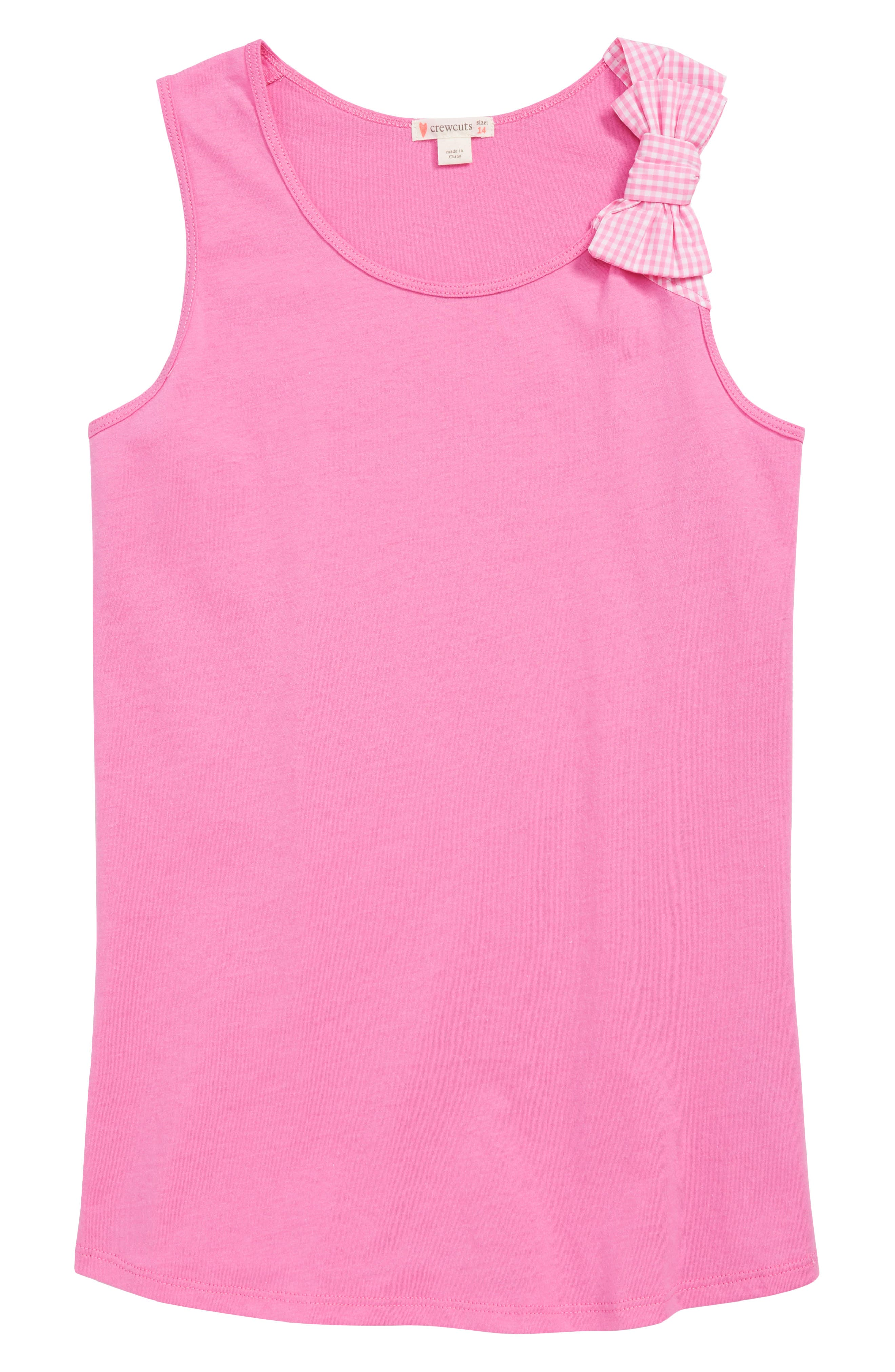 CREWCUTS BY J.CREW Bow Tank Top, Main, color, 653