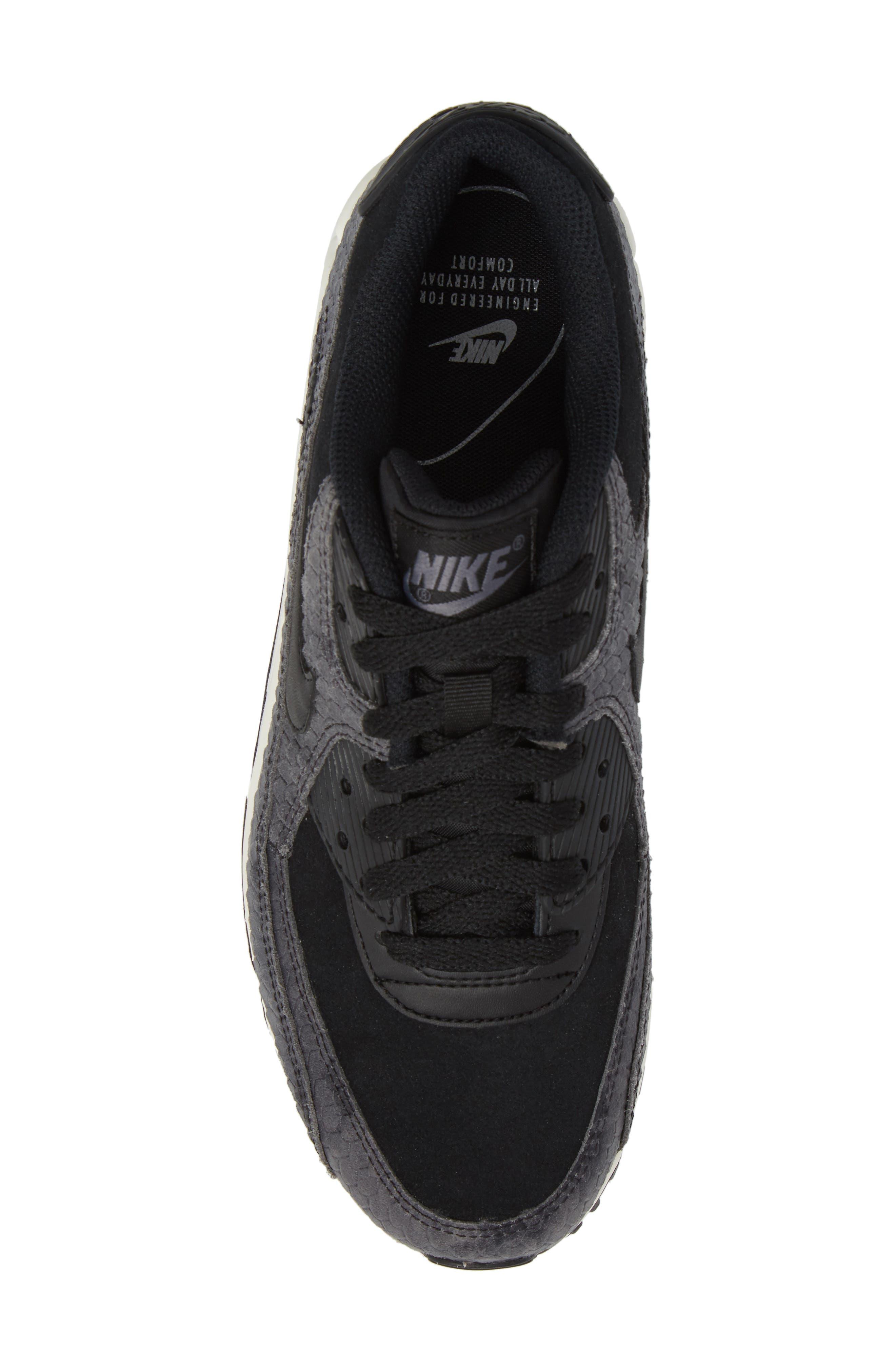 Air Max 90 Embossed Premium Sneaker,                             Alternate thumbnail 5, color,                             005