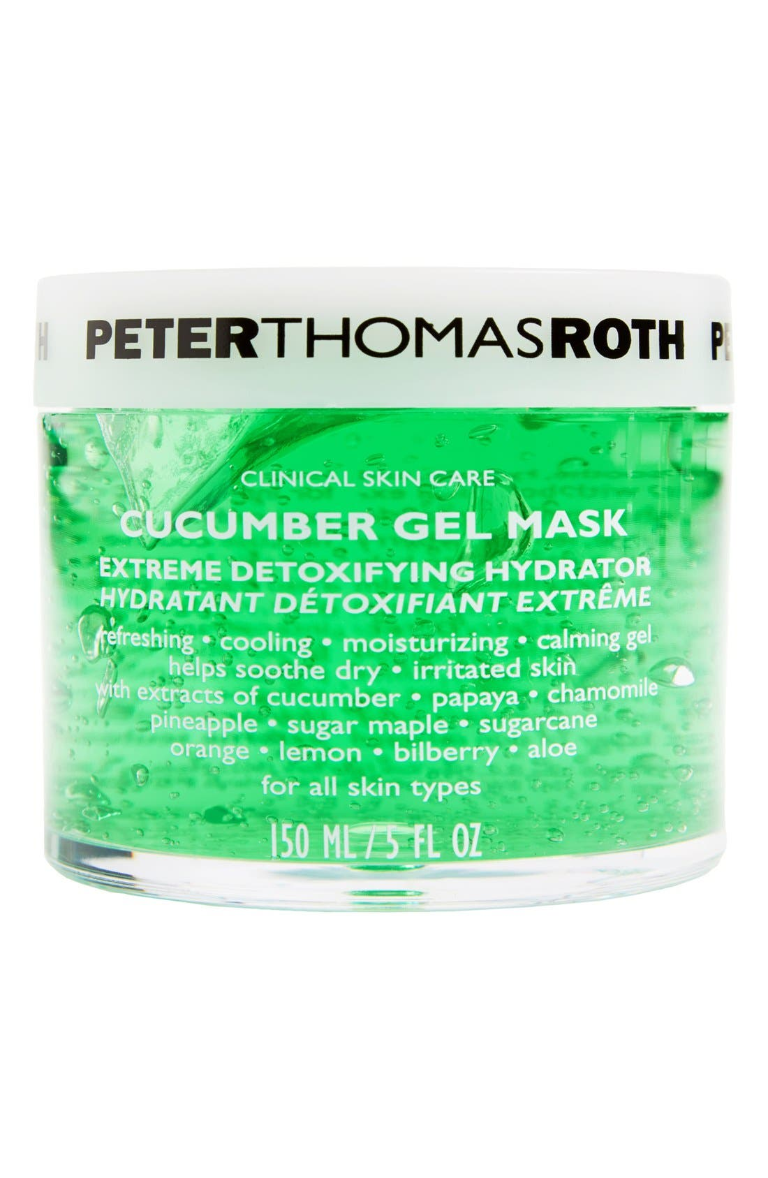 Cucumber Gel Mask,                         Main,                         color, NO COLOR
