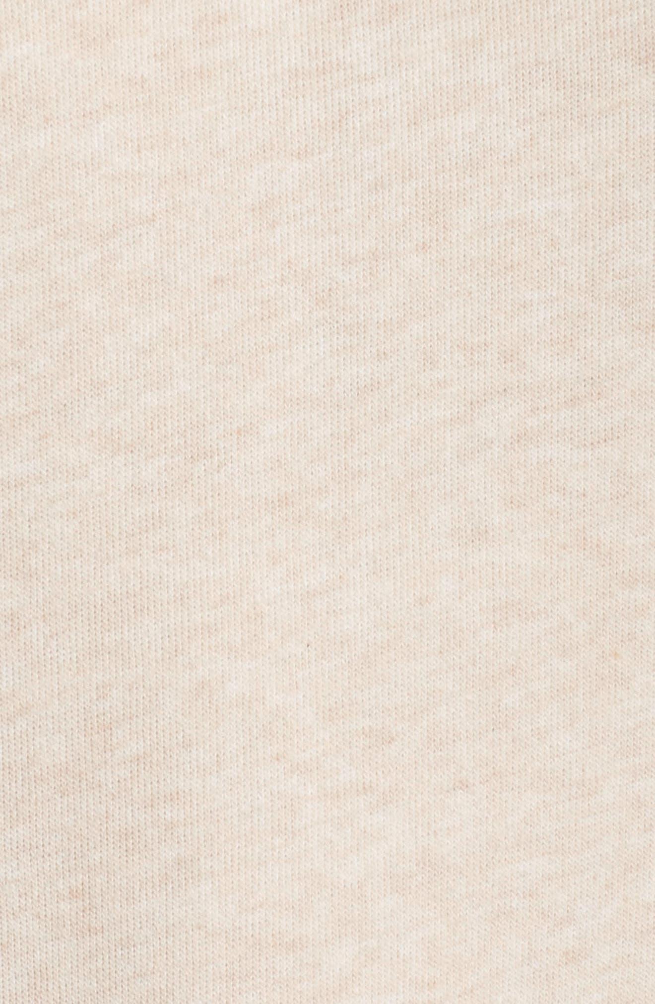 'Haze' Funnel Neck Sweatshirt,                             Alternate thumbnail 6, color,                             PRISTINE HEATHER