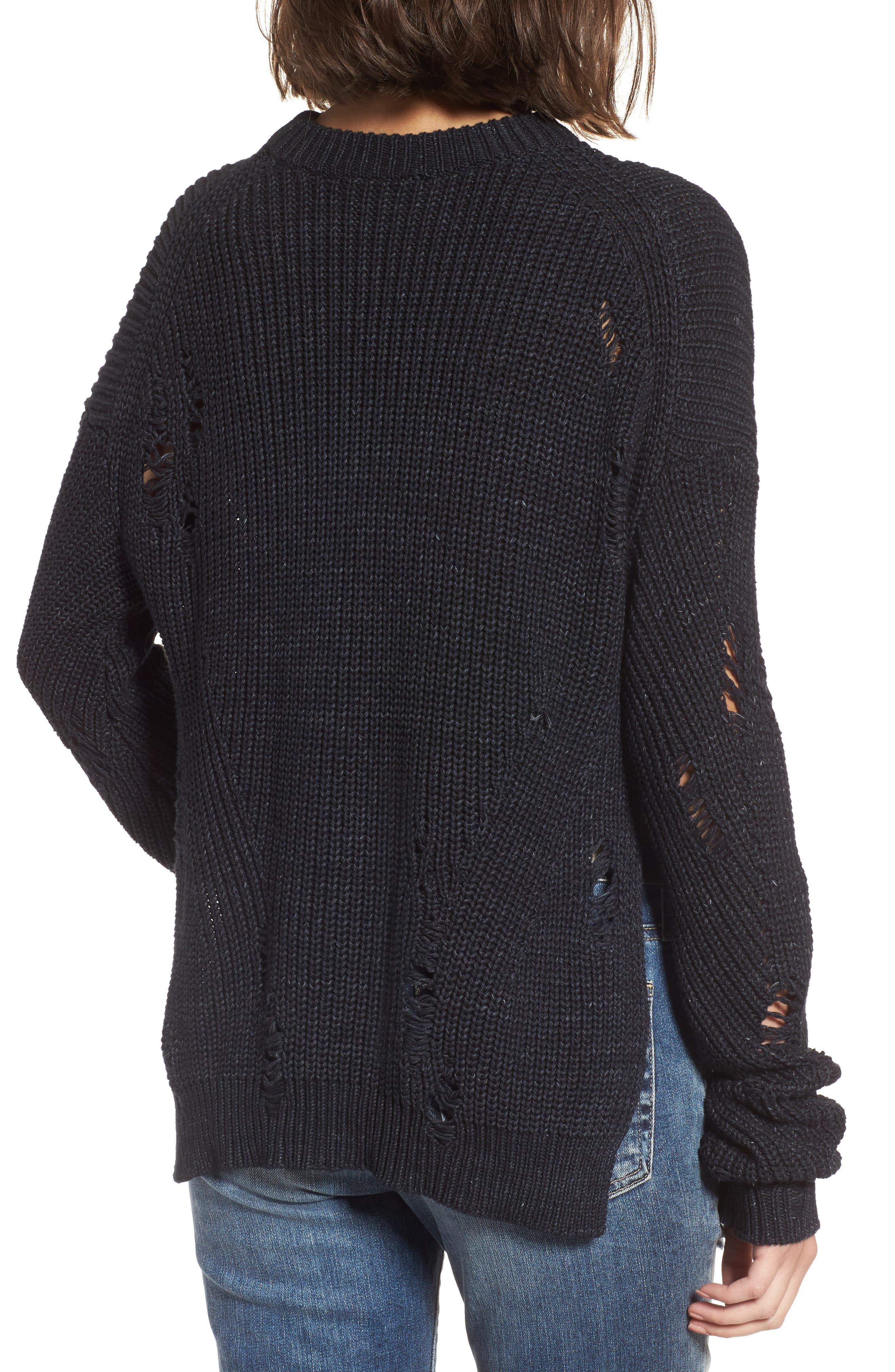 Finn Distressed Sweater,                             Alternate thumbnail 2, color,                             SPECKLED MIDNIGHT SKY