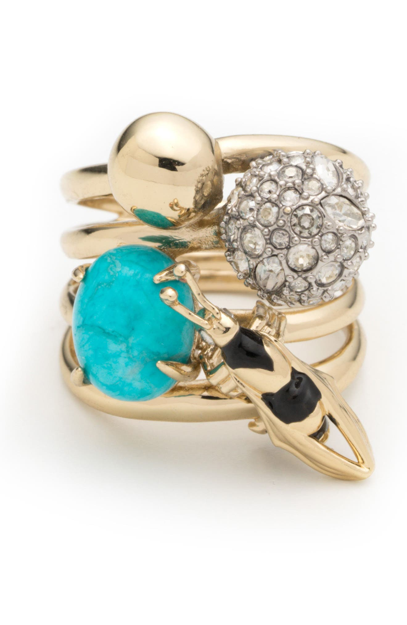 Pavé Bee Ring,                             Main thumbnail 1, color,                             710