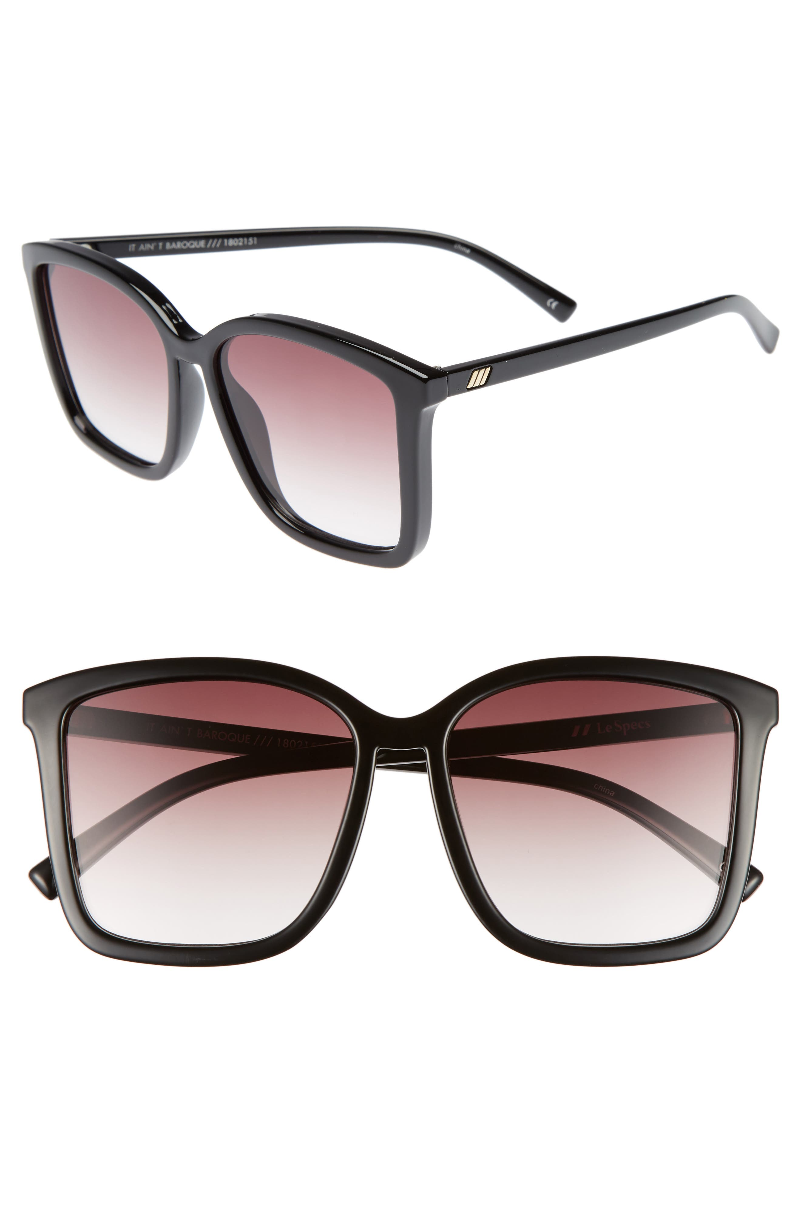 It Ain't Baroque 55mm Sunglasses, Main, color, 001