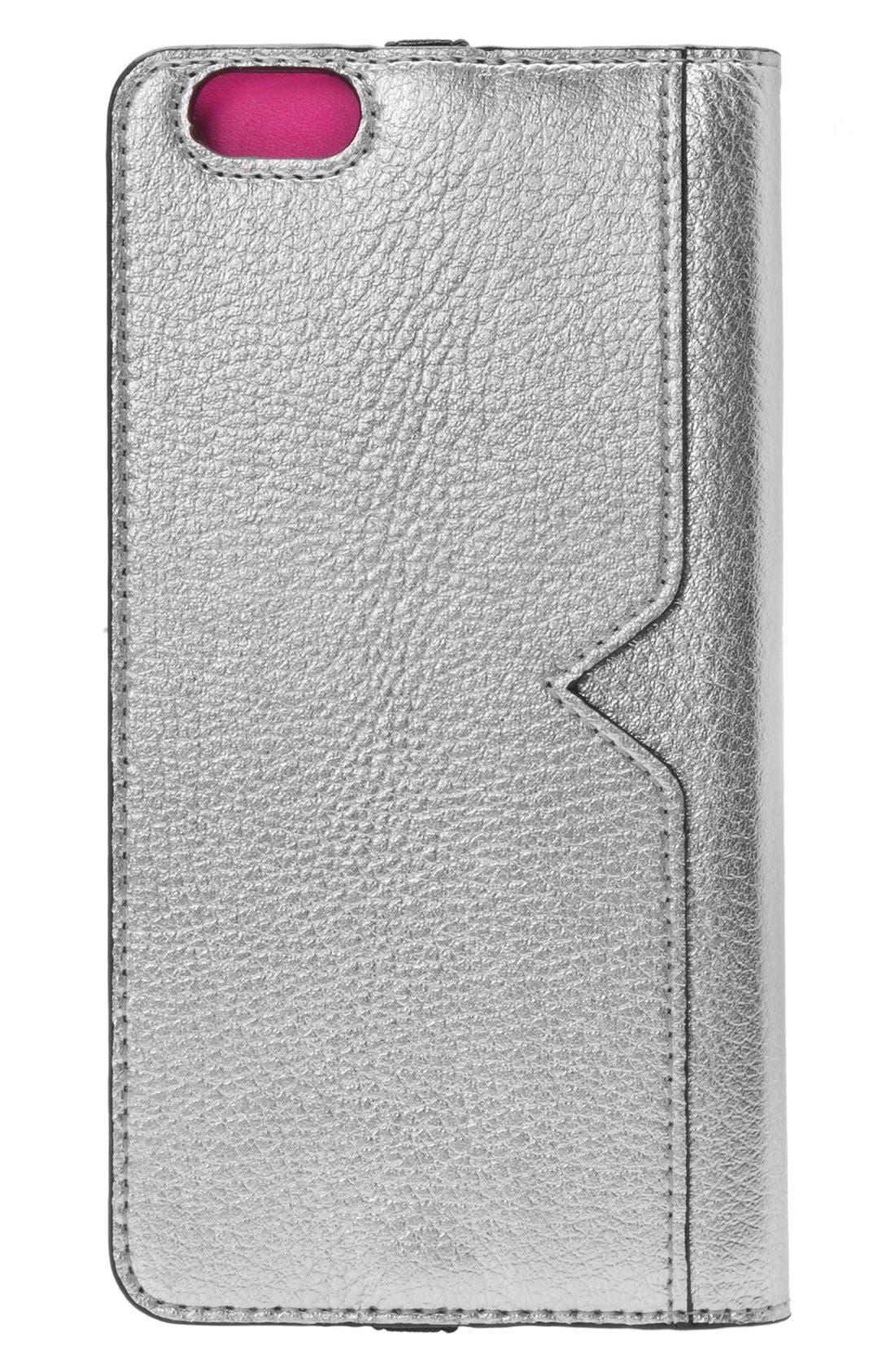 iPhone 6 Plus/6s Plus Metallic Leather Wallet Case,                             Alternate thumbnail 2, color,                             040