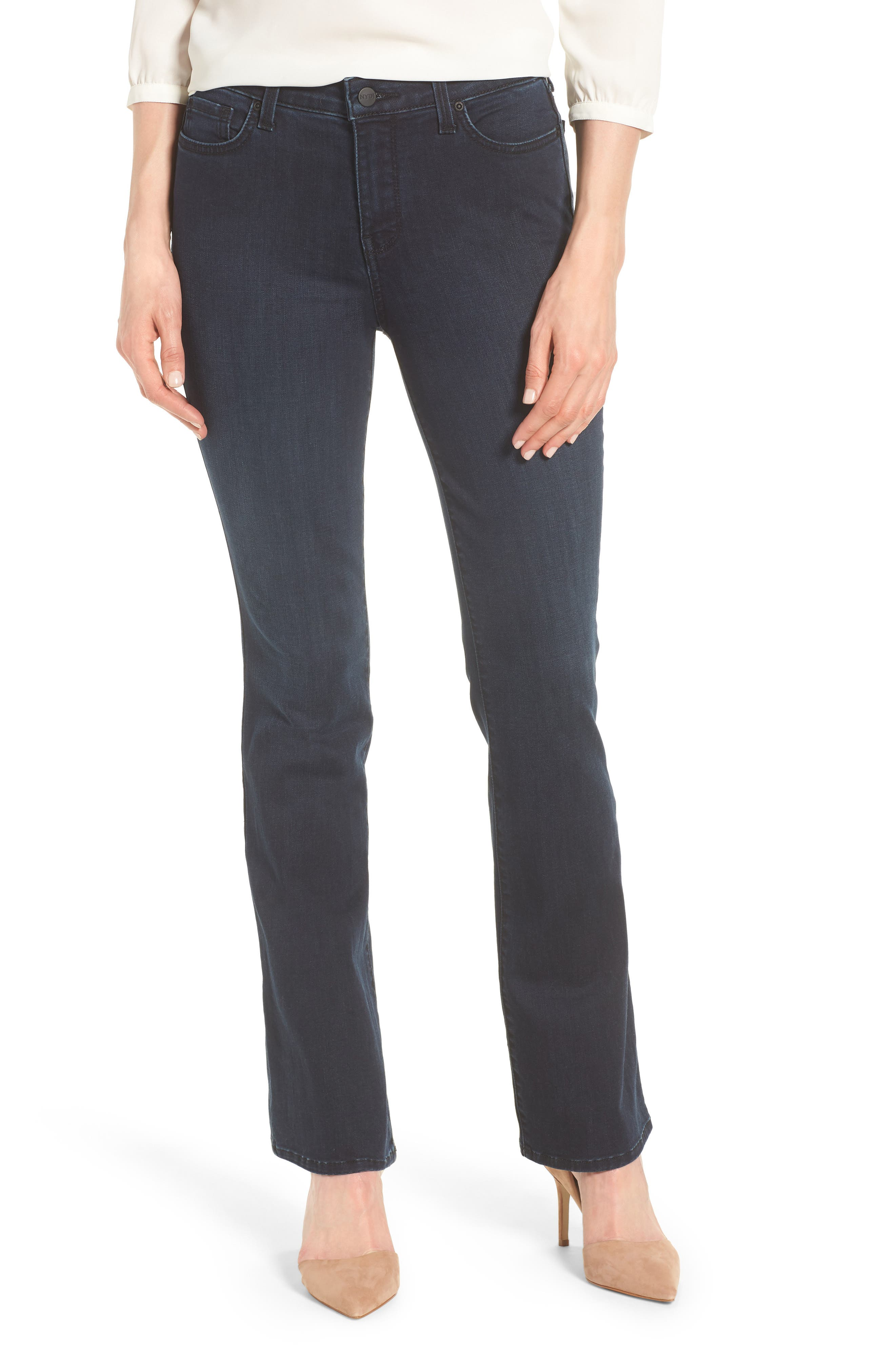 Barbara Bootcut Stretch Skinny Jeans,                             Main thumbnail 1, color,                             407