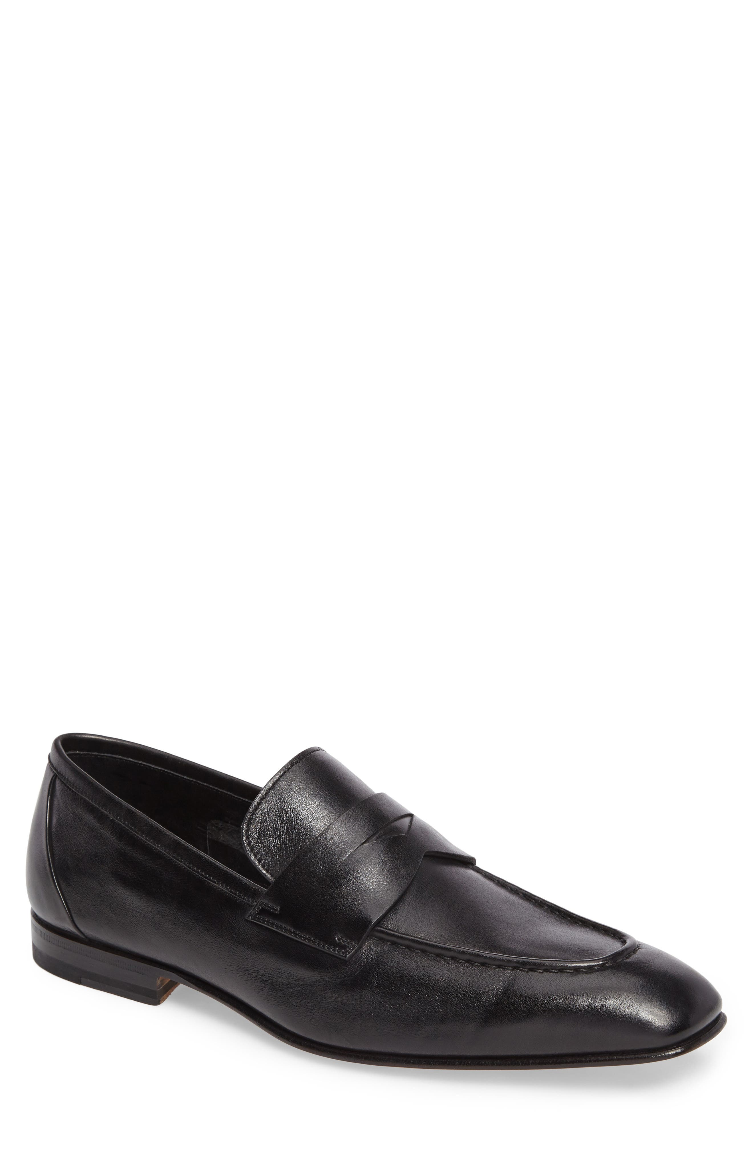 Gannon Penny Loafer,                         Main,                         color, BLACK