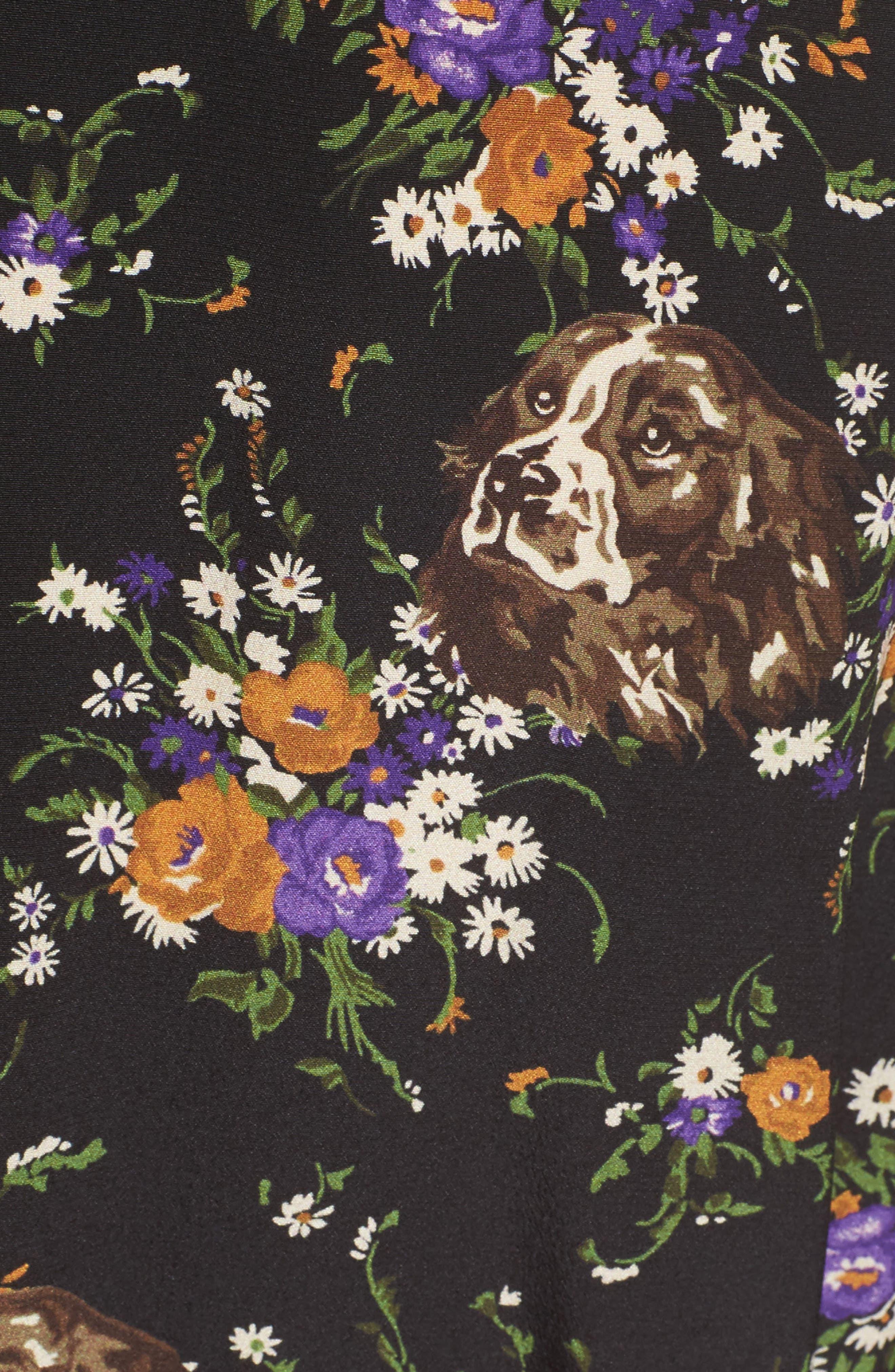 Western Lace & Silk Shirtdress,                             Alternate thumbnail 5, color,                             013