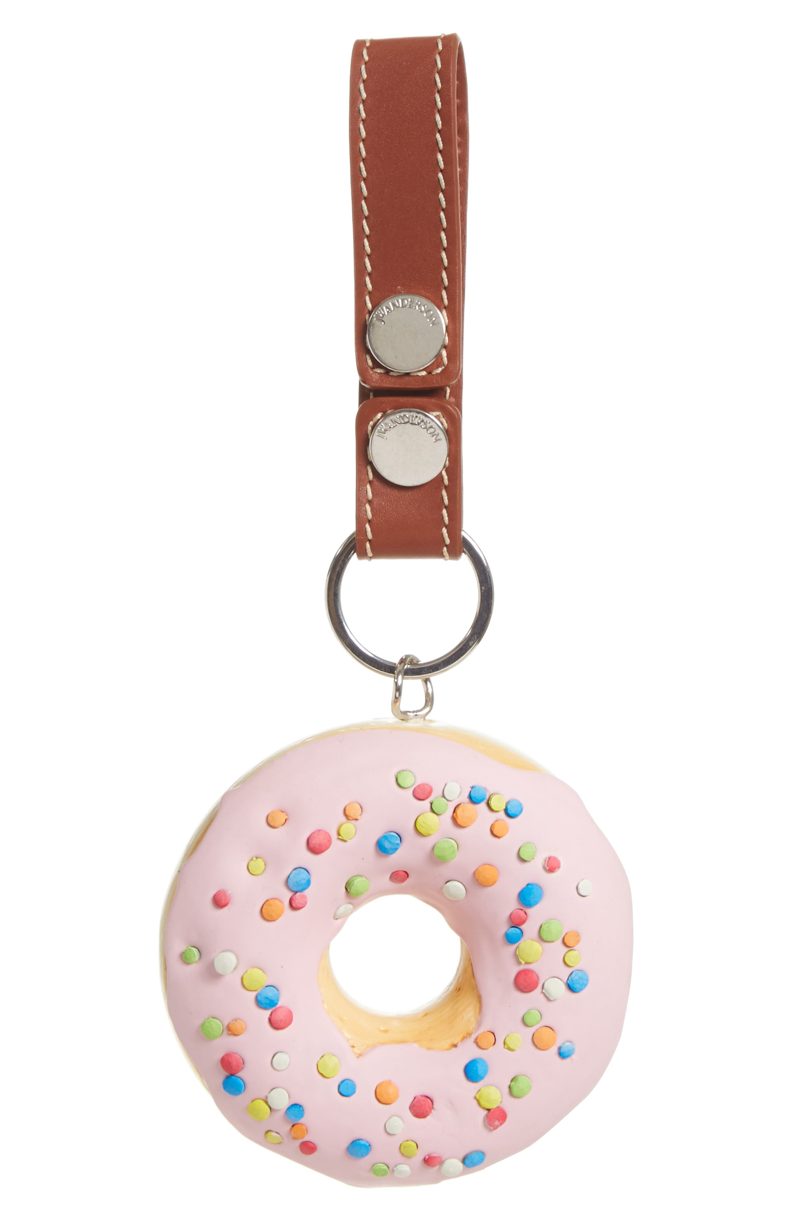 Doughnut Bag Charm,                             Main thumbnail 1, color,                             650