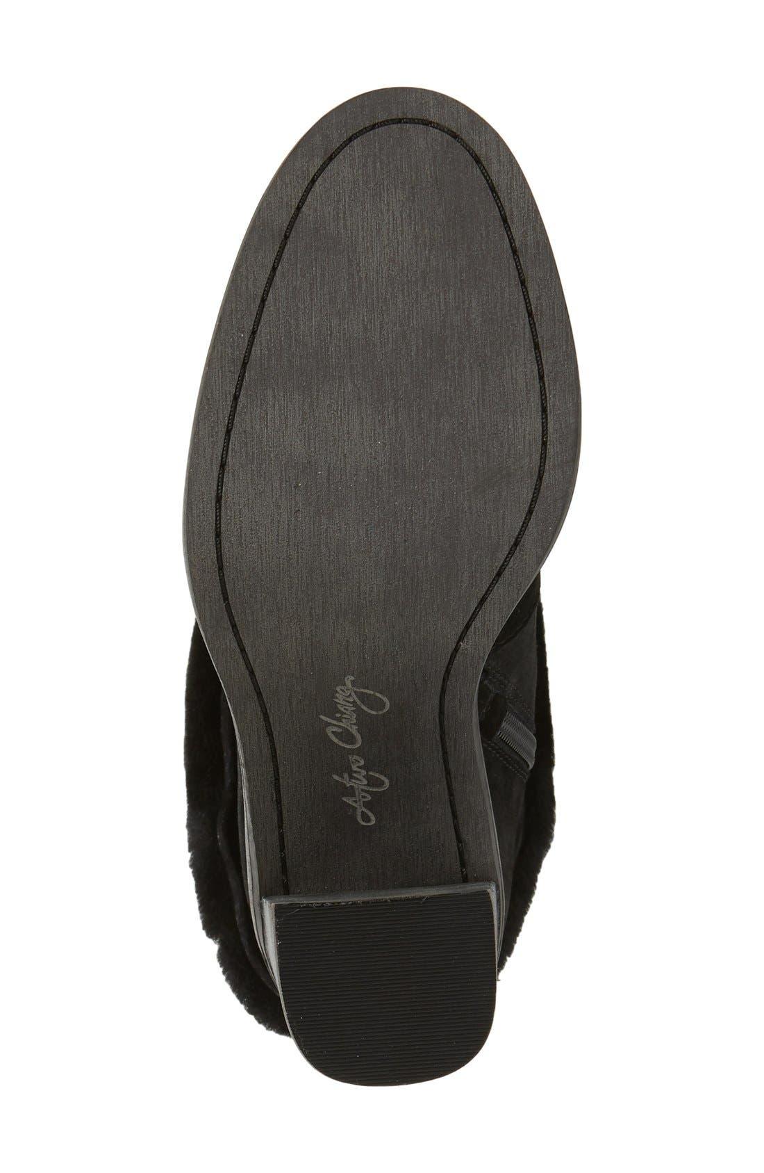 'Maira' Genuine Shearling Cuff Boot,                             Alternate thumbnail 4, color,                             002
