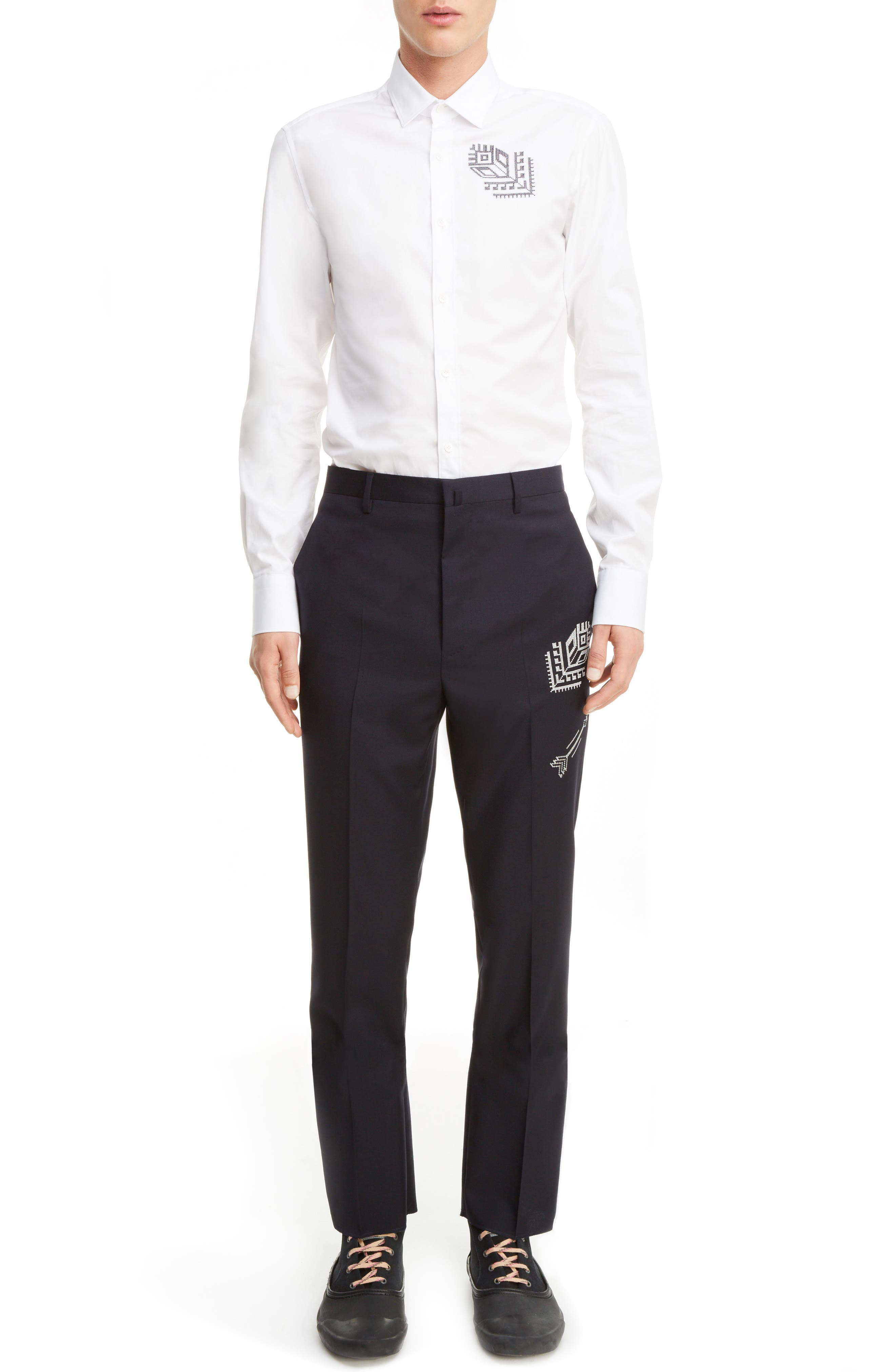 Tropical Wool Suit Trousers,                             Main thumbnail 2, color,
