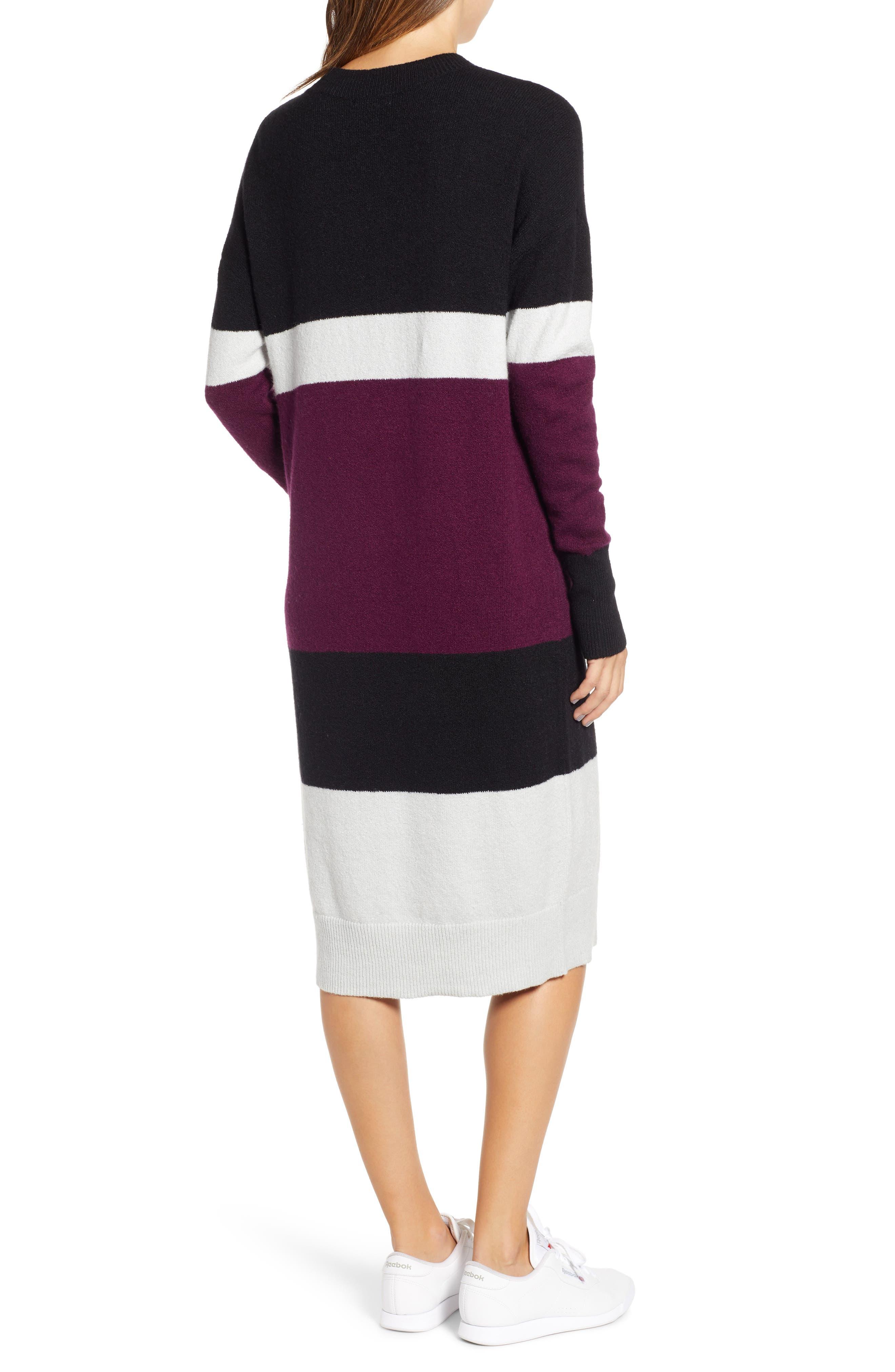 Stripe Sweater Dress,                             Alternate thumbnail 2, color,                             510