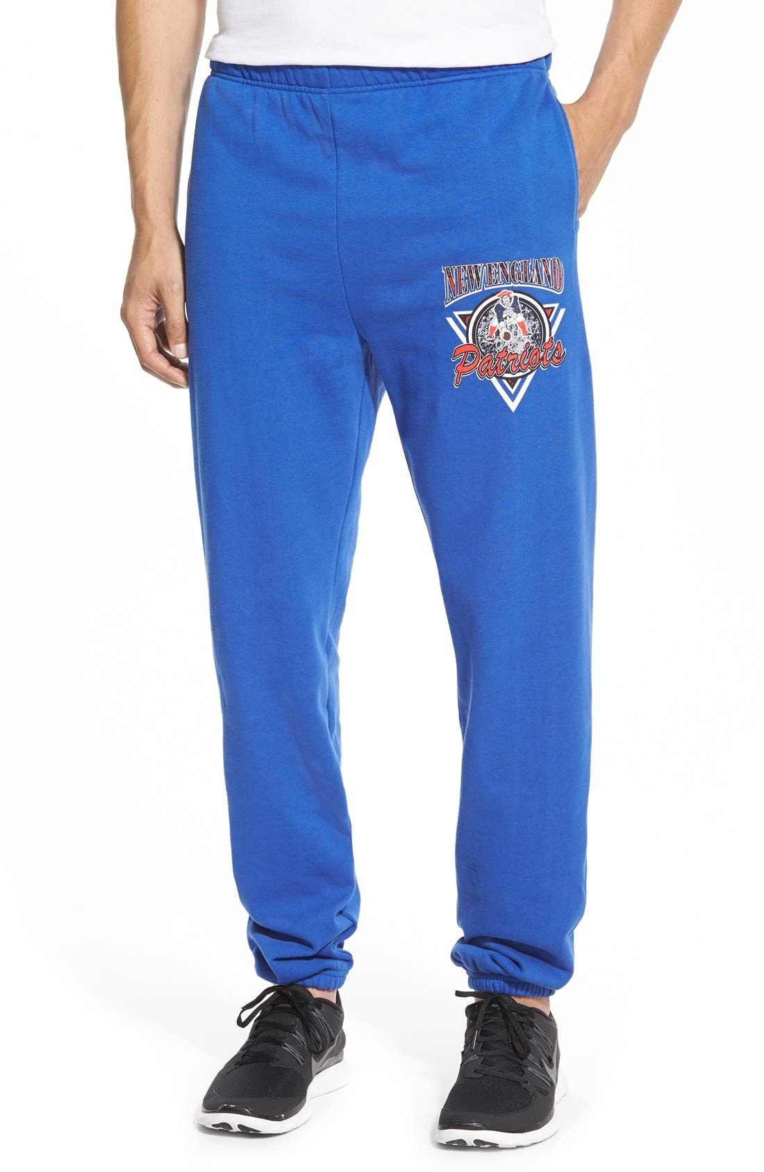 'New England Patriots' Fleece Sweatpants, Main, color, 430