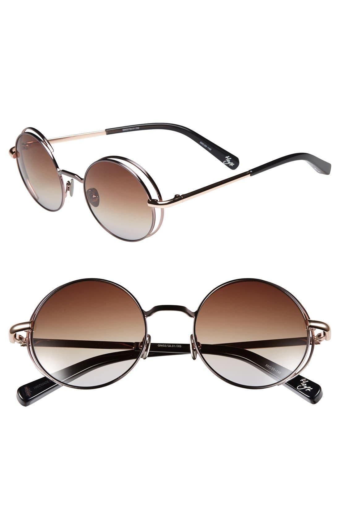 'Hoyt' 50mm Sunglasses, Main, color, 020