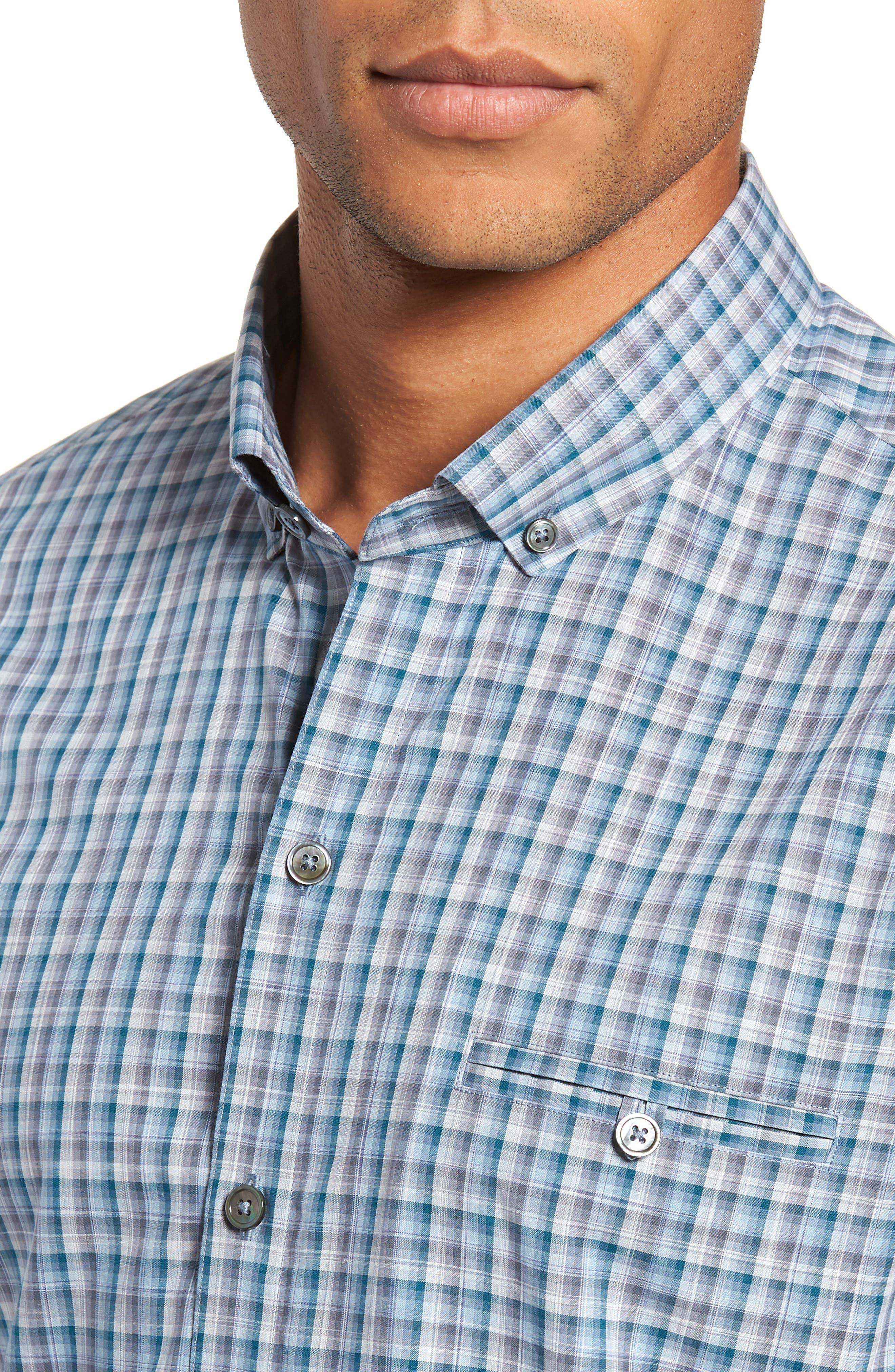 Godinez Check Sport Shirt,                             Alternate thumbnail 2, color,                             DARK TEAL