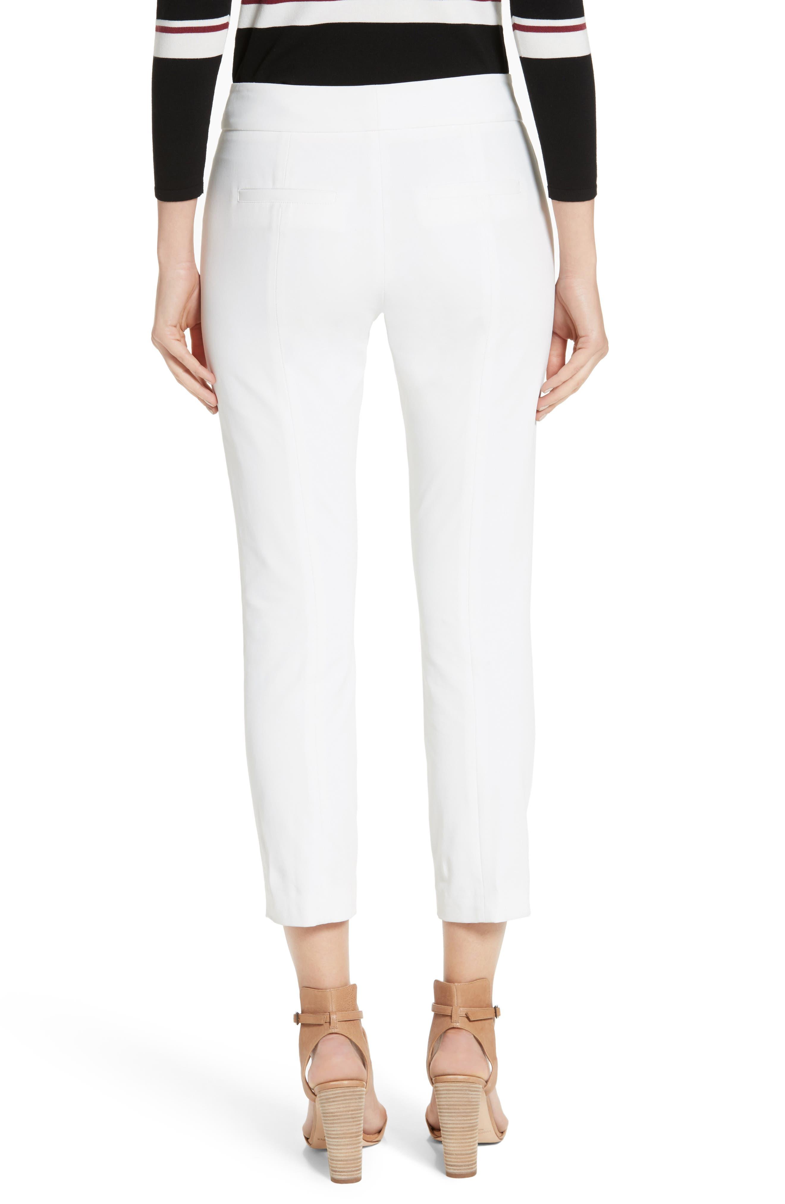 Roxy Crop Pants,                             Alternate thumbnail 2, color,                             WHITE