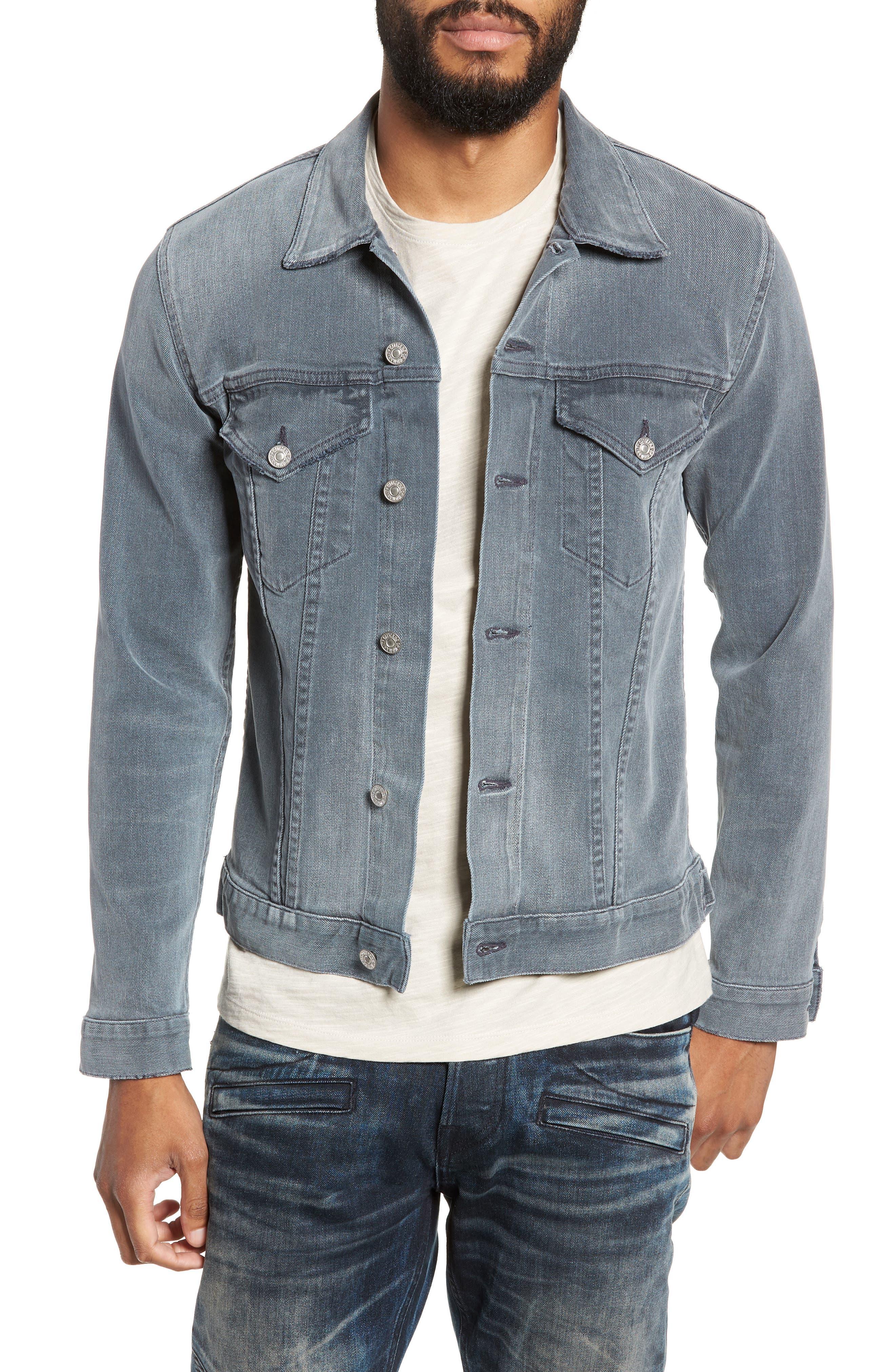Classic Denim Jacket,                             Main thumbnail 1, color,                             VINTAGE GREY