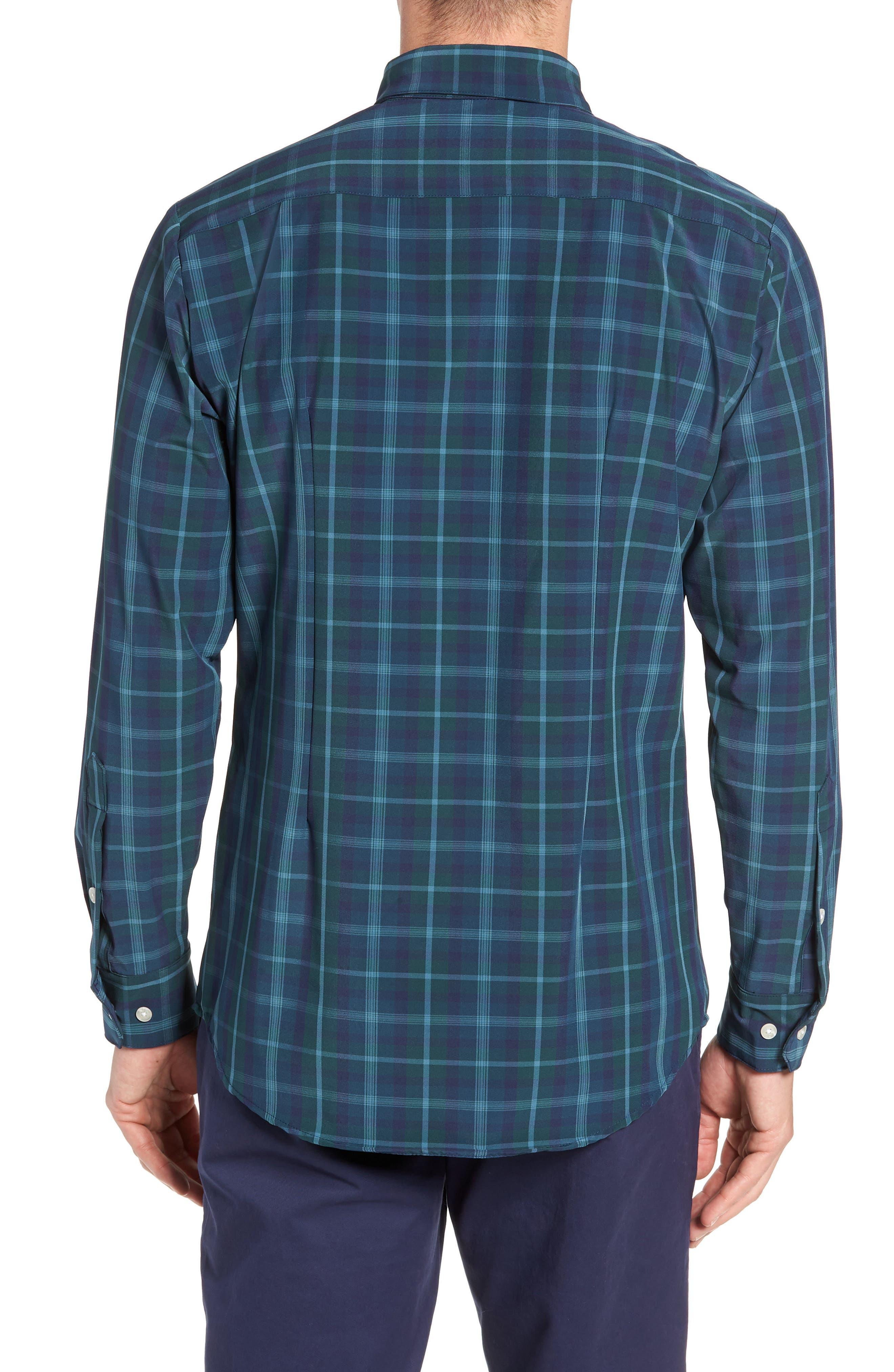 Northcross Plaid Sport Shirt,                             Alternate thumbnail 3, color,                             GREEN