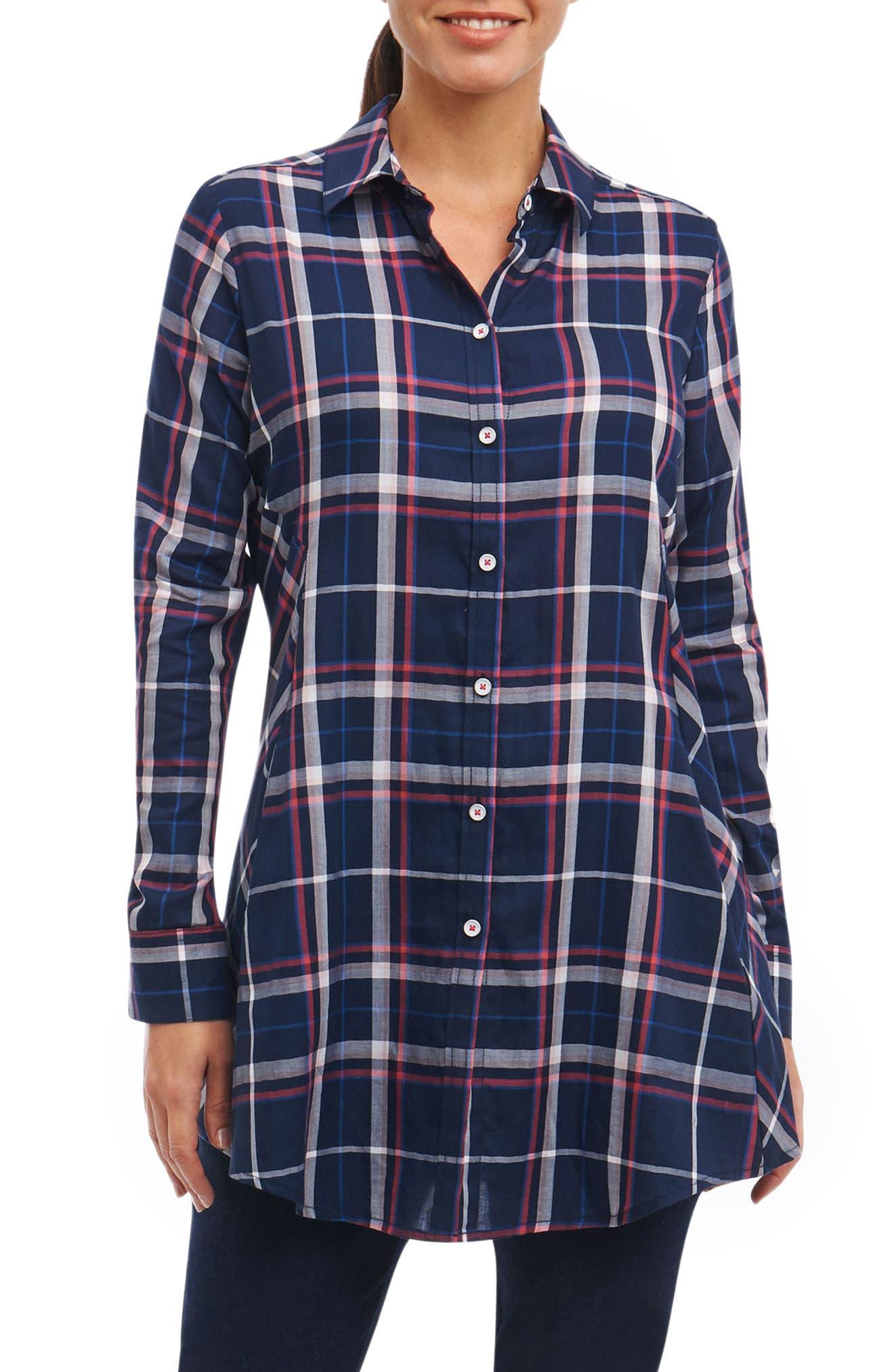 Cici Plaid Shirt,                         Main,                         color, 462