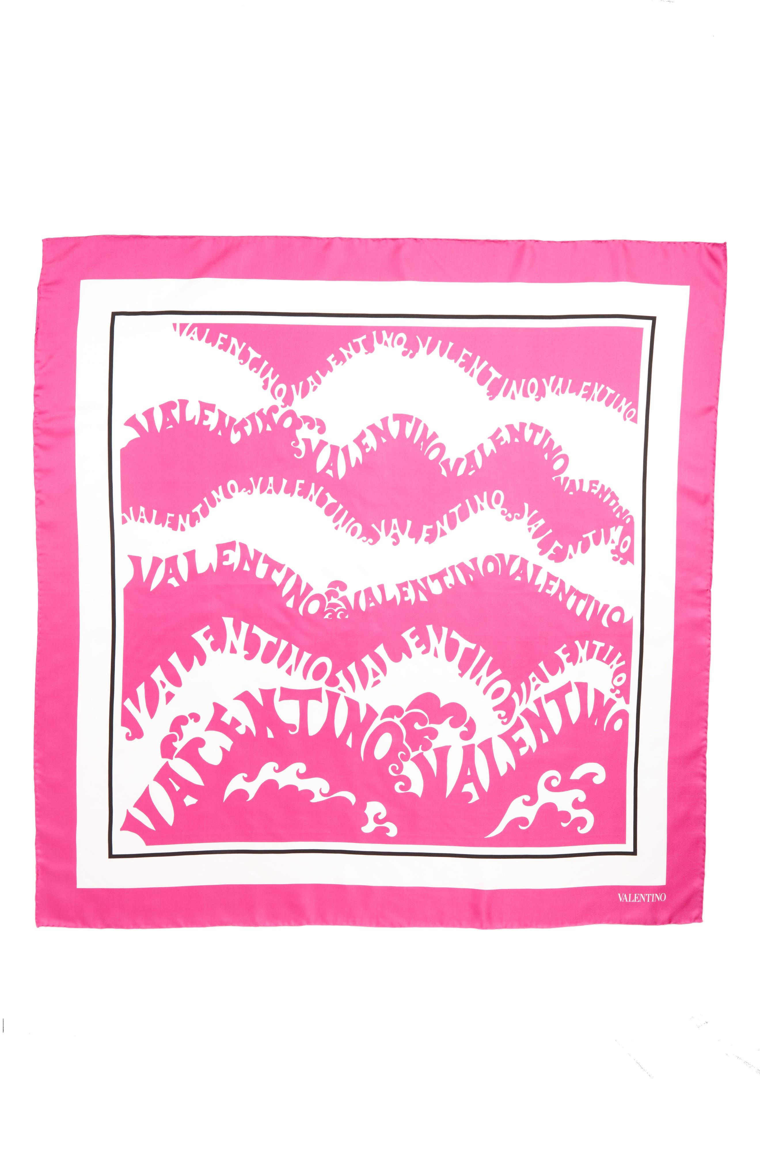 Waves Silk Scarf,                             Main thumbnail 1, color,                             PINK