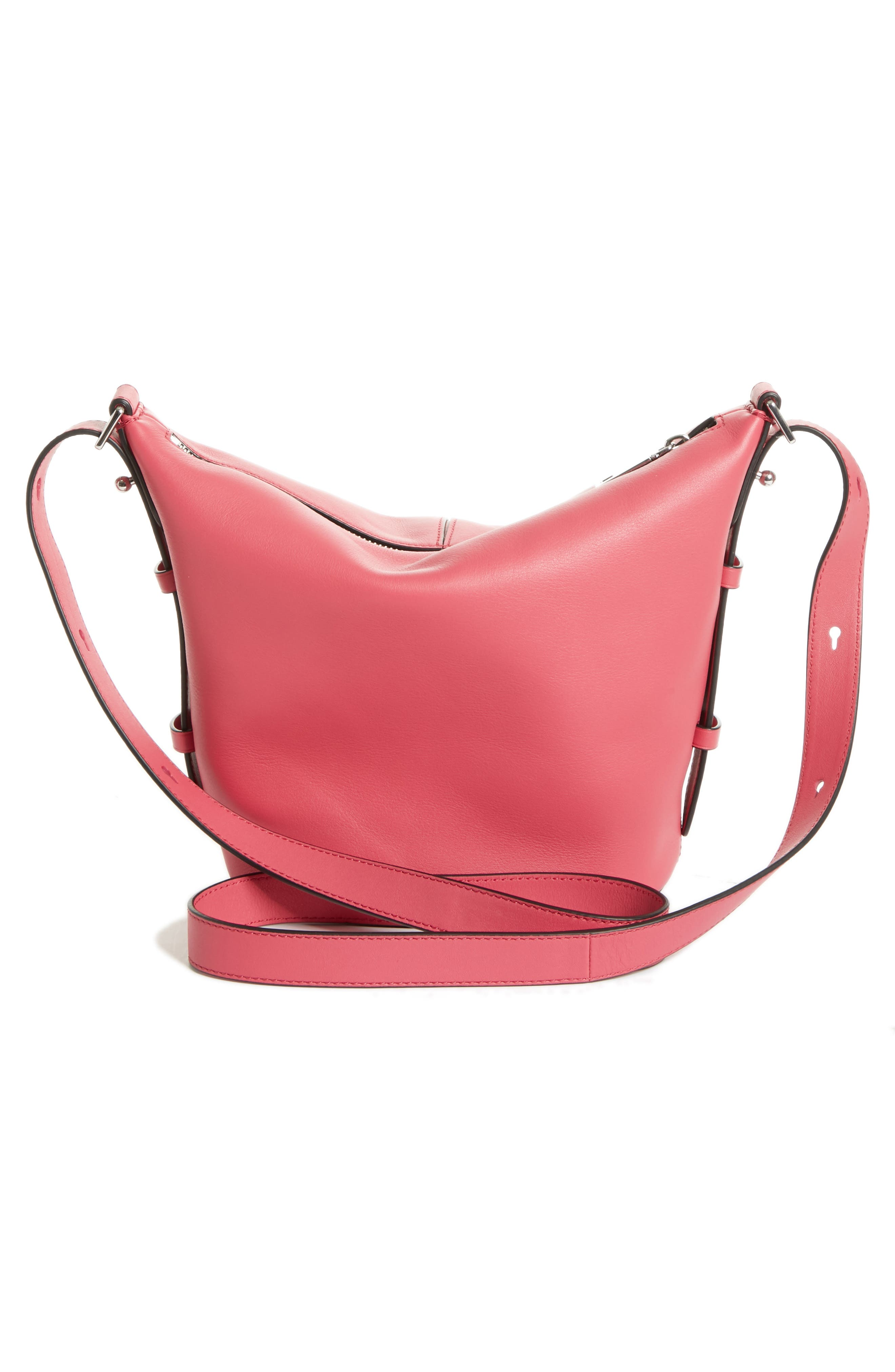 The Mini Sling Convertible Leather Hobo,                             Alternate thumbnail 21, color,