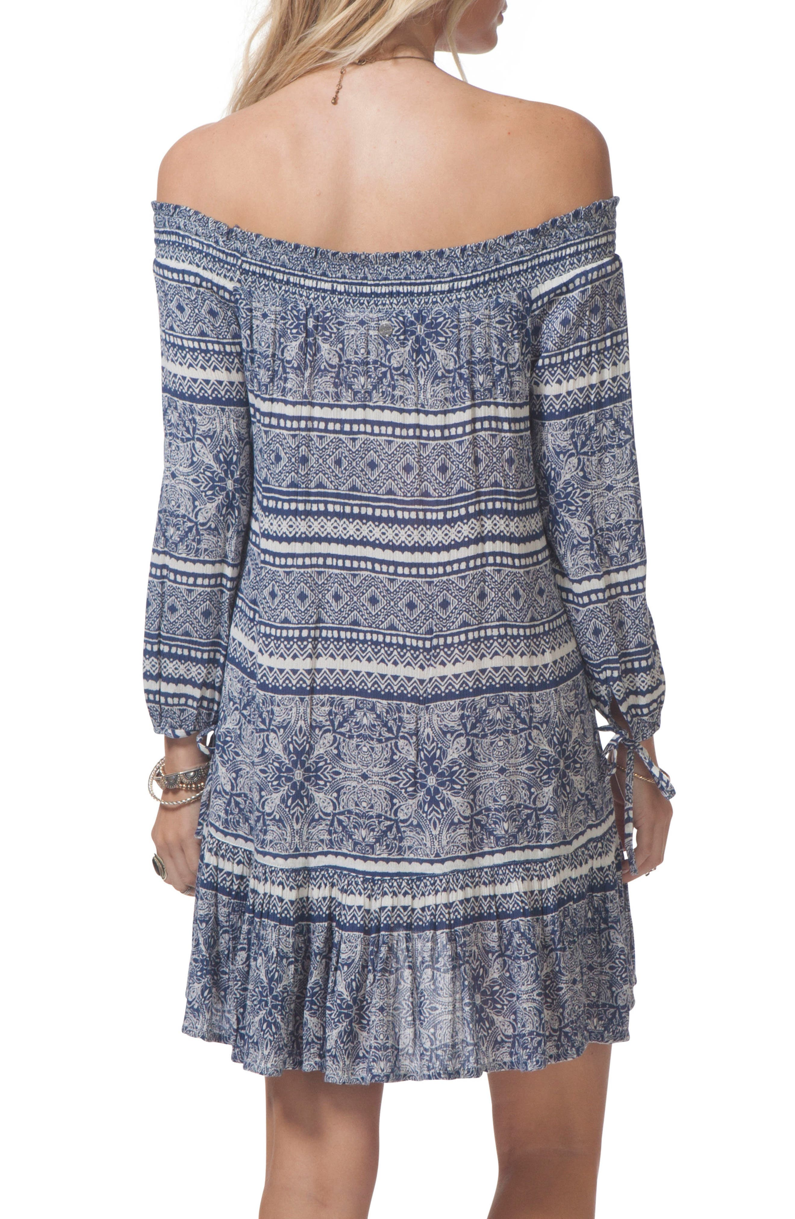 Southeast Off the Shoulder Dress,                             Alternate thumbnail 2, color,                             410