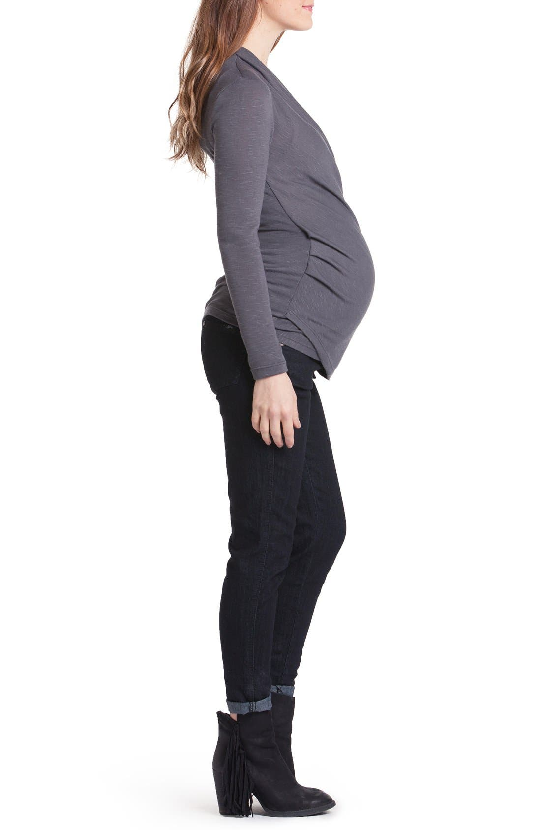 Karen Surplice Maternity/Nursing Top,                             Alternate thumbnail 3, color,                             030