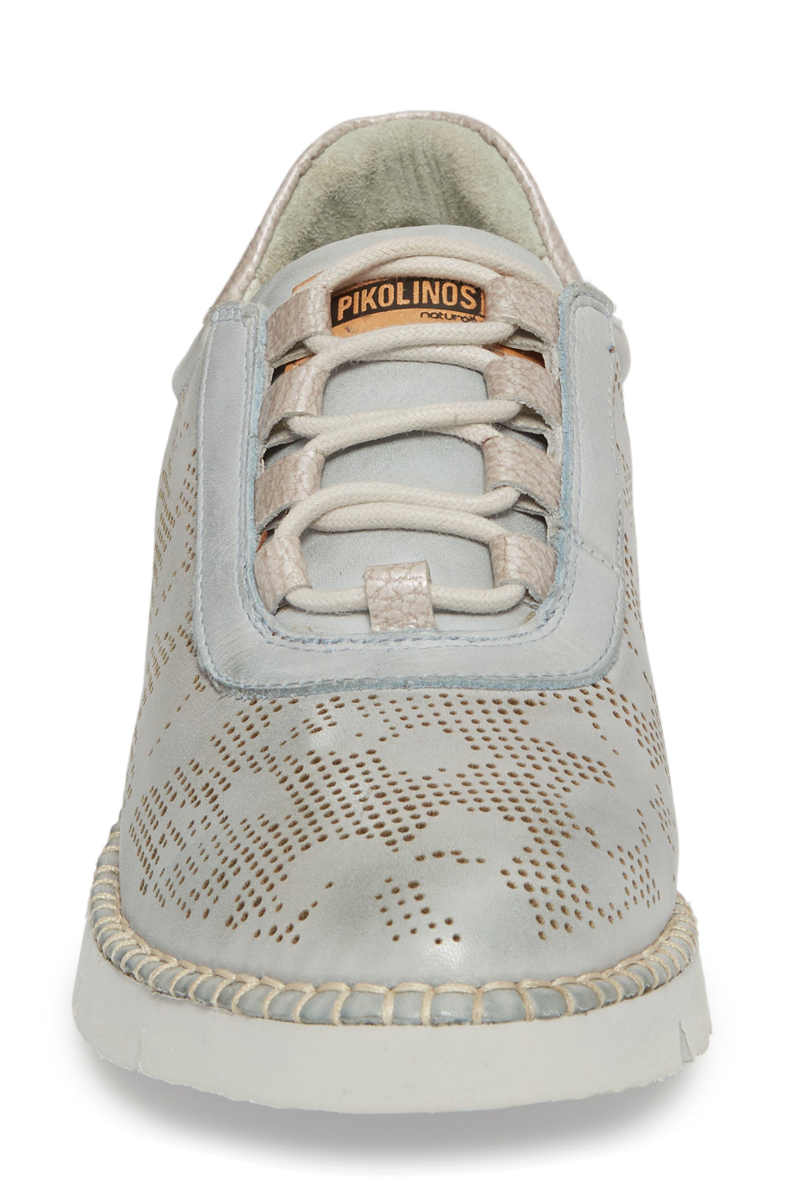 Vera Sneaker,                             Alternate thumbnail 4, color,                             AQUA LEATHER