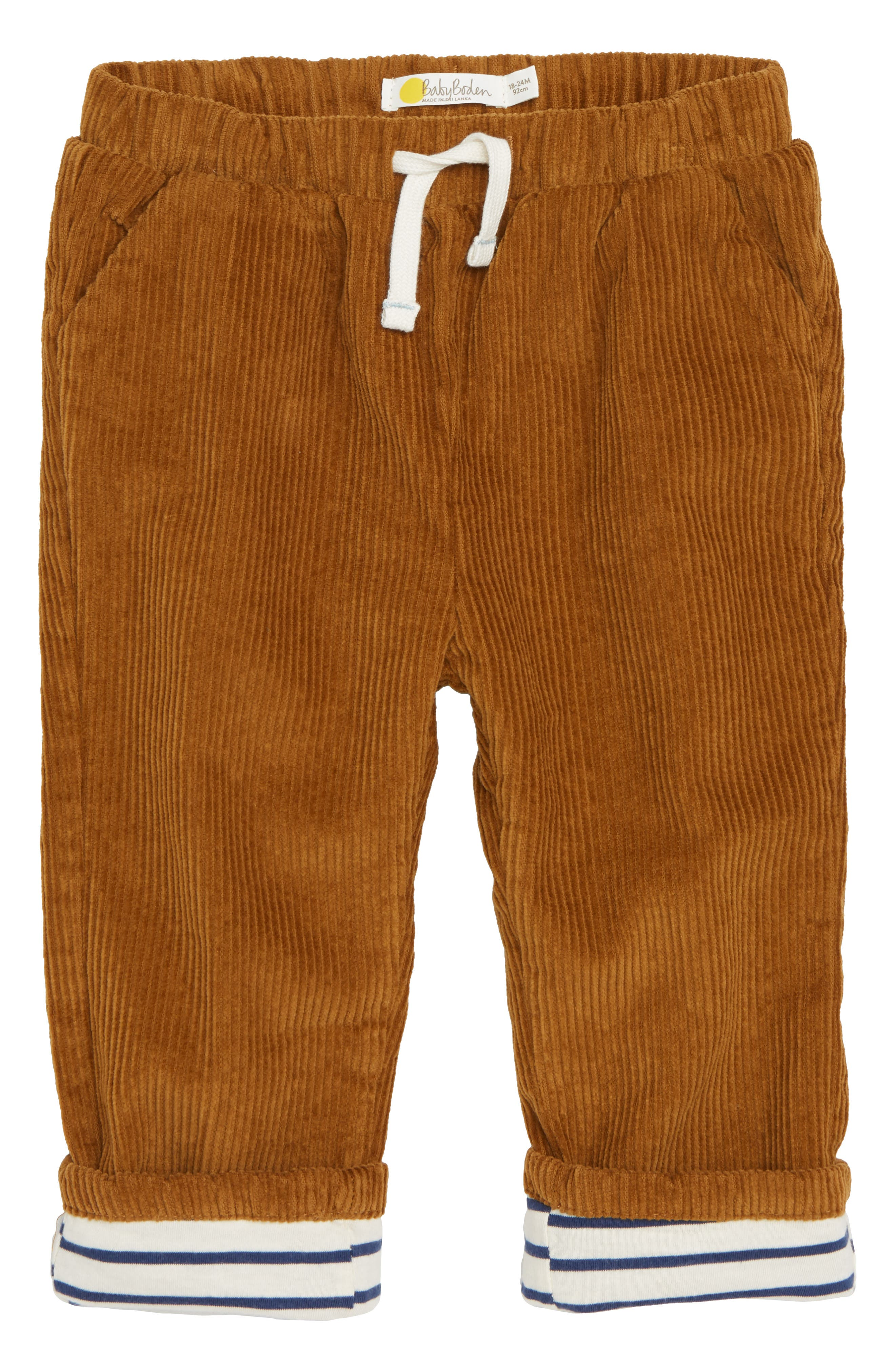 Lined Corduroy Trousers,                         Main,                         color, TEDDY BEAR BROWN