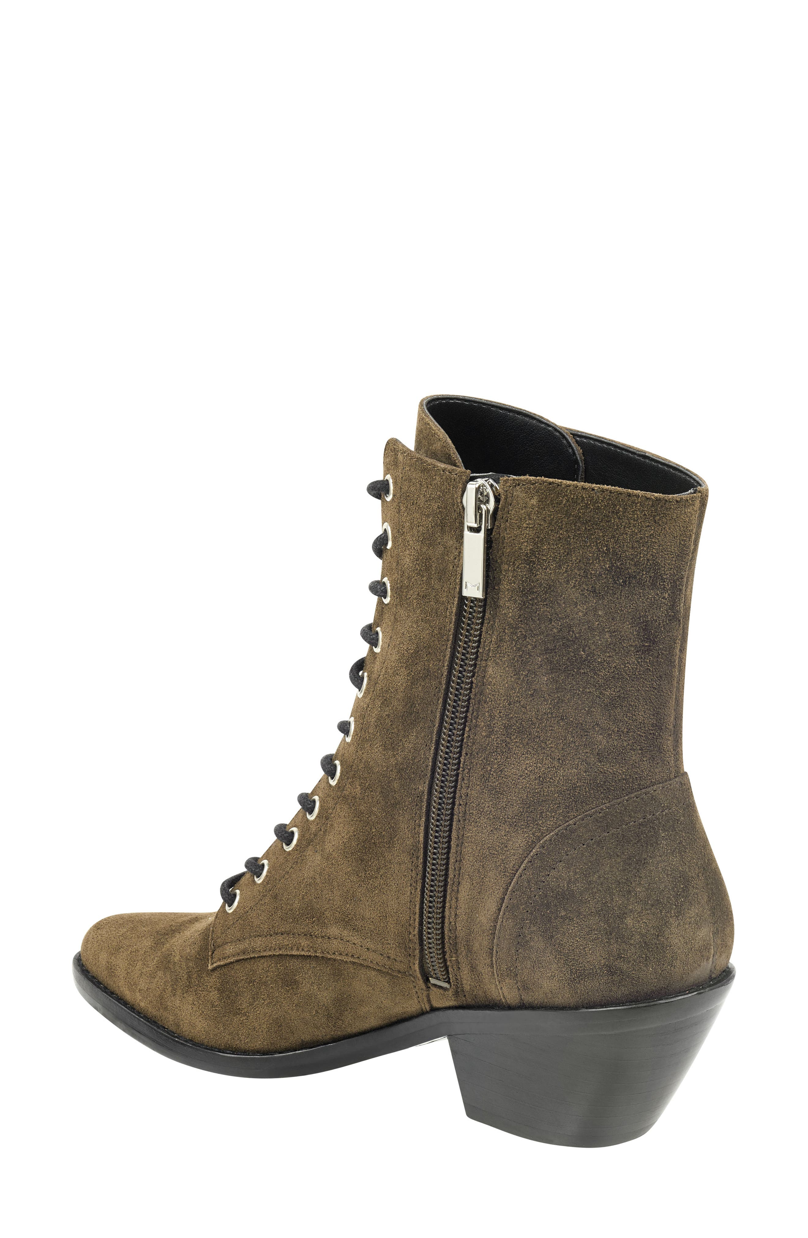 Bowie Lace-Up Boot,                             Alternate thumbnail 2, color,                             OLIVE SUEDE