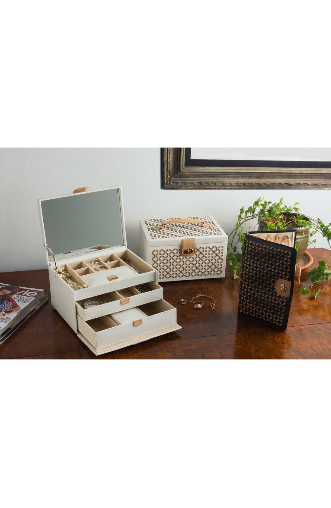 'Chloe' Jewelry Box,                             Alternate thumbnail 3, color,                             CREAM