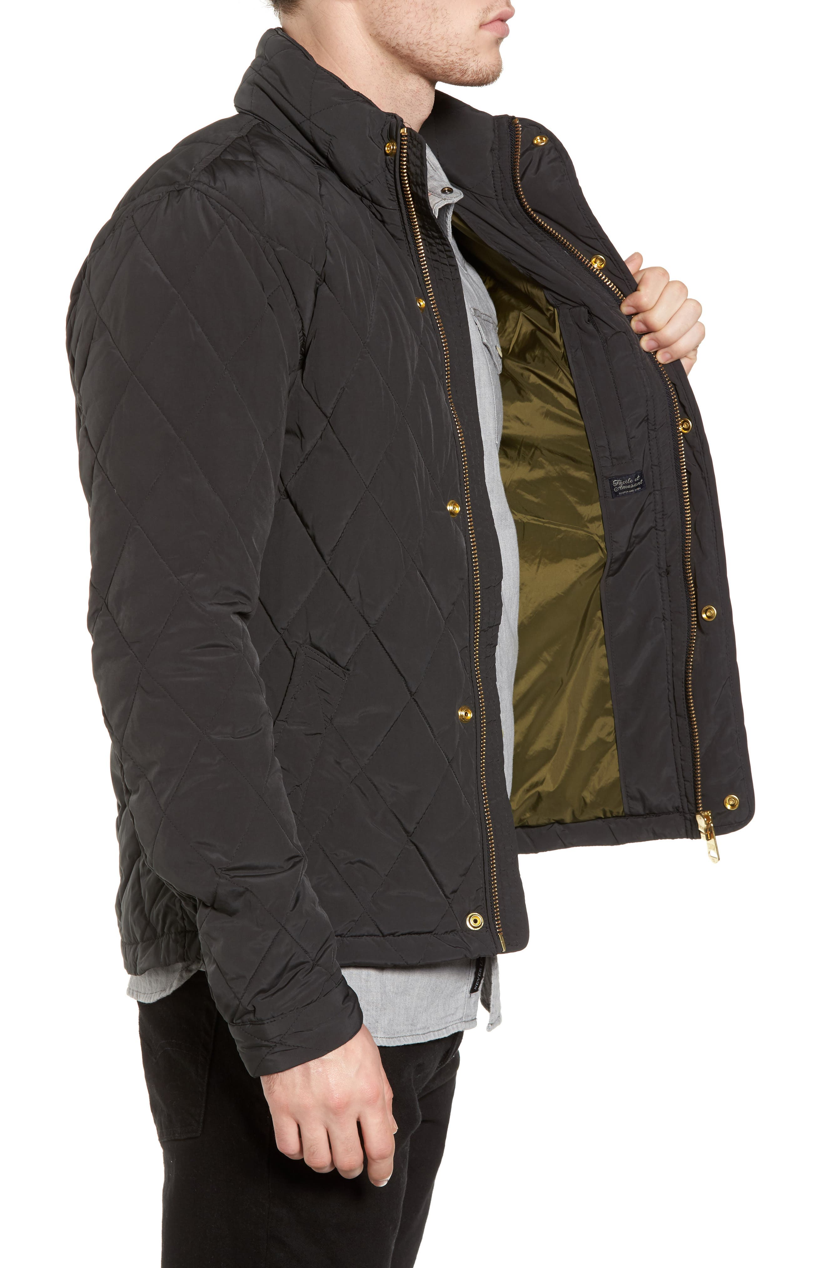 Lightweight Quilted Jacket,                             Alternate thumbnail 3, color,                             030