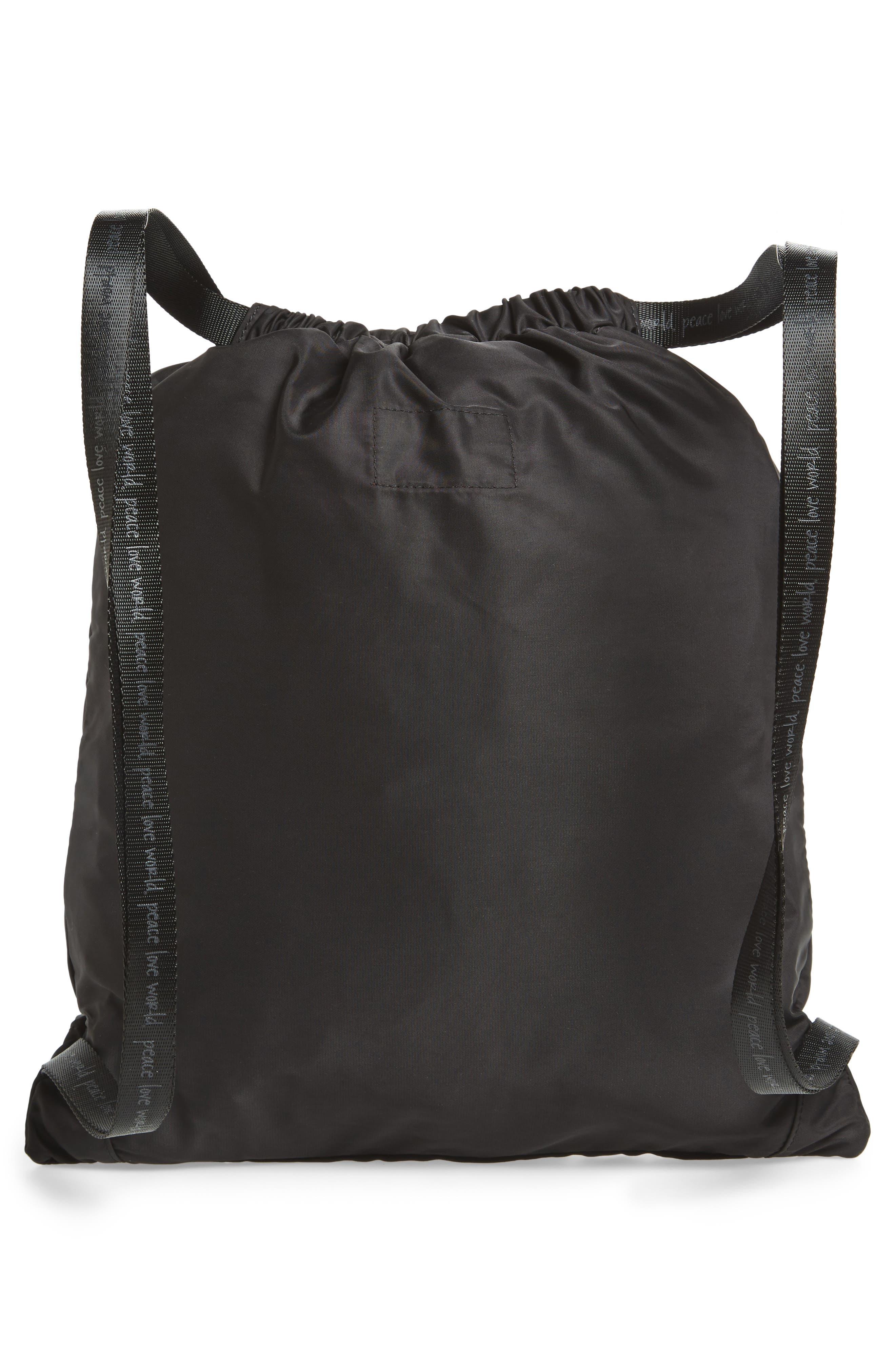 Drawstring Nylon Backpack,                             Alternate thumbnail 9, color,