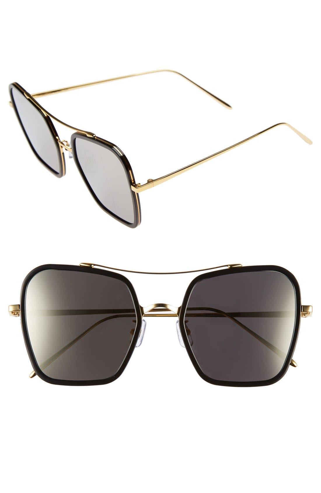 53mm Retro Square Sunglasses,                             Main thumbnail 2, color,